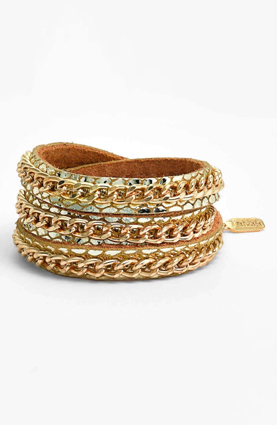 Main Image - Tasha Leather Wrap Bracelet