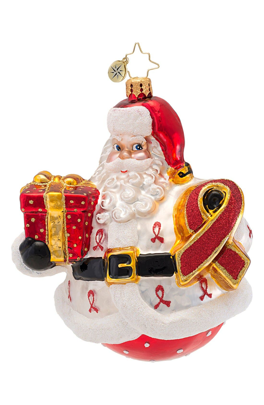 Alternate Image 1 Selected - Christopher Radko 'Claus for a Cure' Ornament