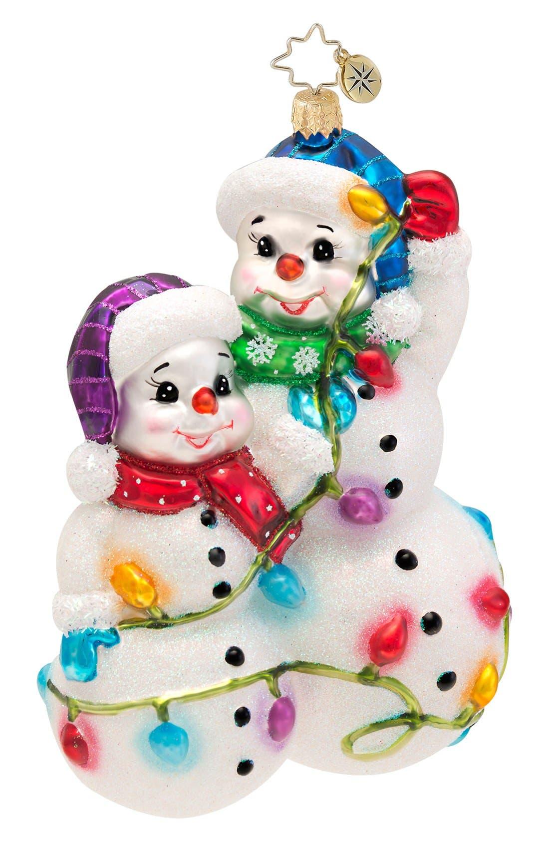 Alternate Image 1 Selected - Christopher Radko 'Snowmen Glowmen' Ornament