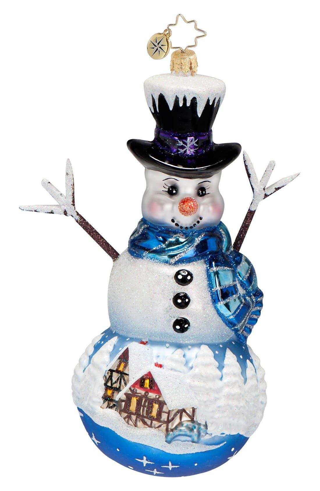 Main Image - Christopher Radko 'Frosty Memory Lane' Ornament