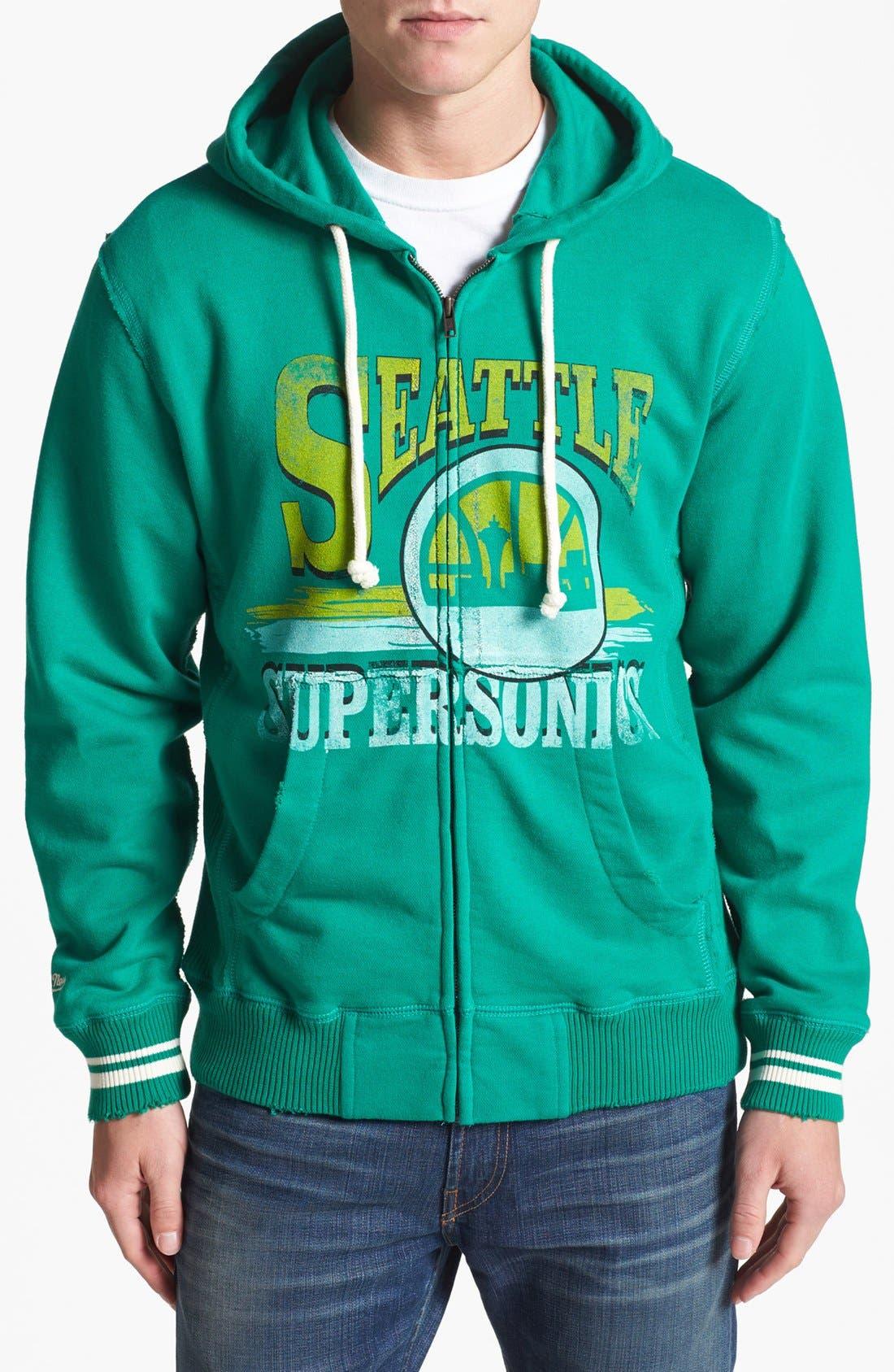Main Image - Mitchell & Ness 'Seattle SuperSonics' Hoodie