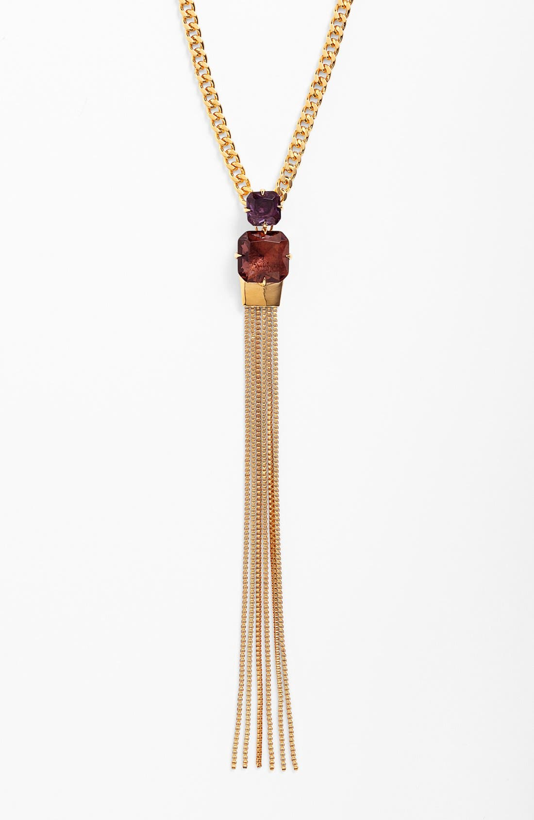 Alternate Image 2  - Vince Camuto 'Jewel Purpose' Stone Tassel Pendant Necklace