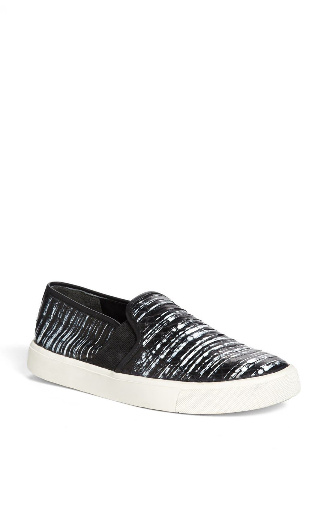 Alternate Image 1 Selected - Vince 'Blair 7' Snakeskin Slip-On Sneaker