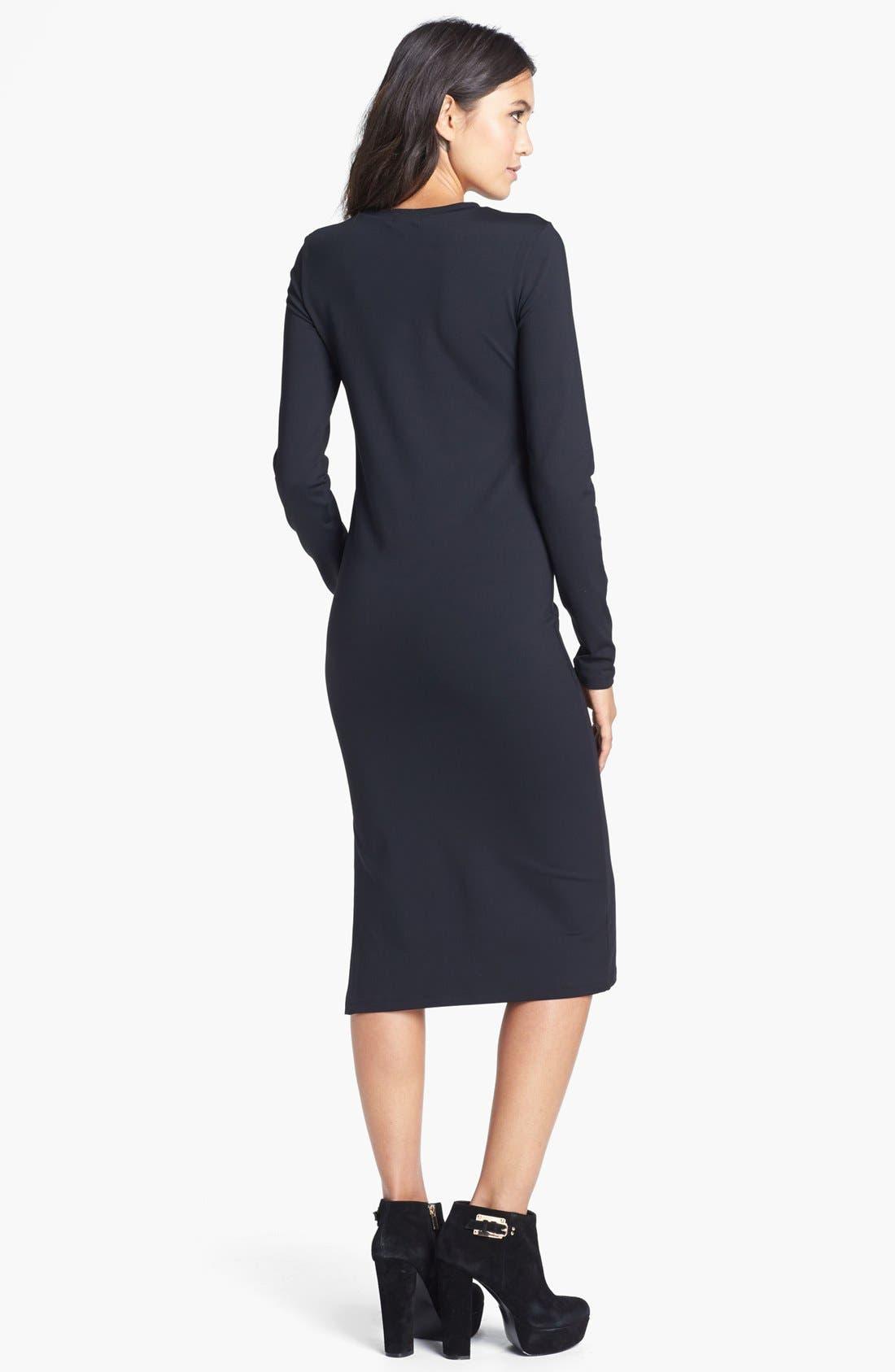 Alternate Image 2  - Leith Long Sleeve Knit Midi Dress