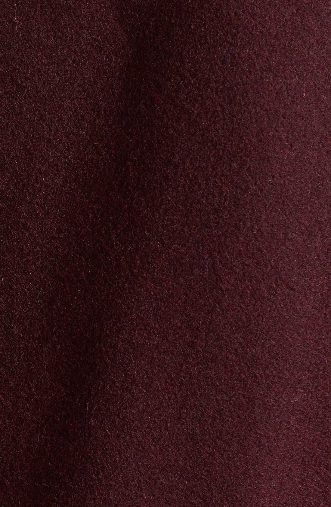 Alternate Image 3  - MICHAEL Michael Kors Faux Leather Sleeve Wool Blend Coat