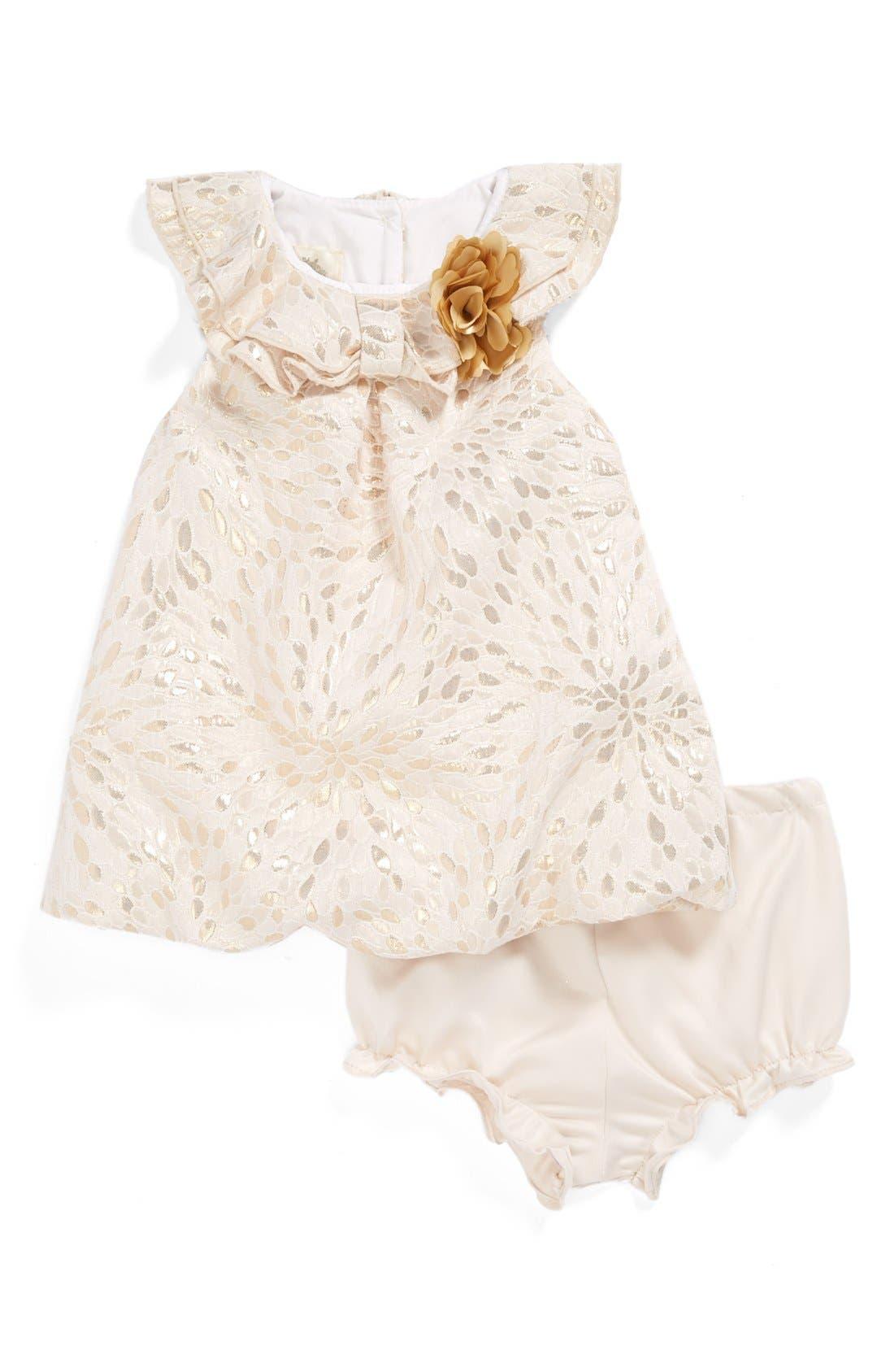 Alternate Image 1 Selected - Pippa & Julie Brocade Bubble Dress (Baby Girls)