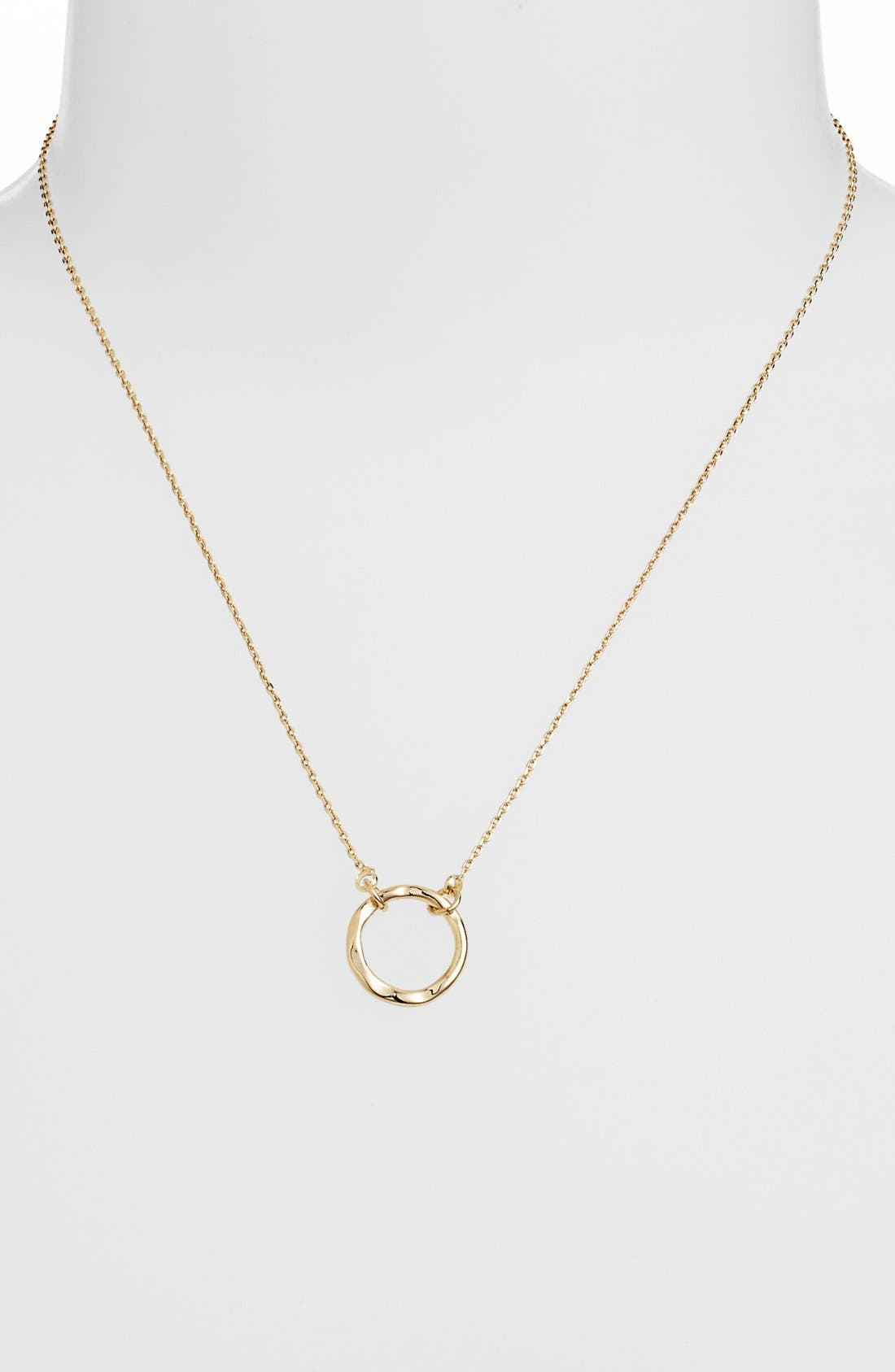 Alternate Image 1 Selected - Stephan & Co. Circle Charm Necklace (Juniors)