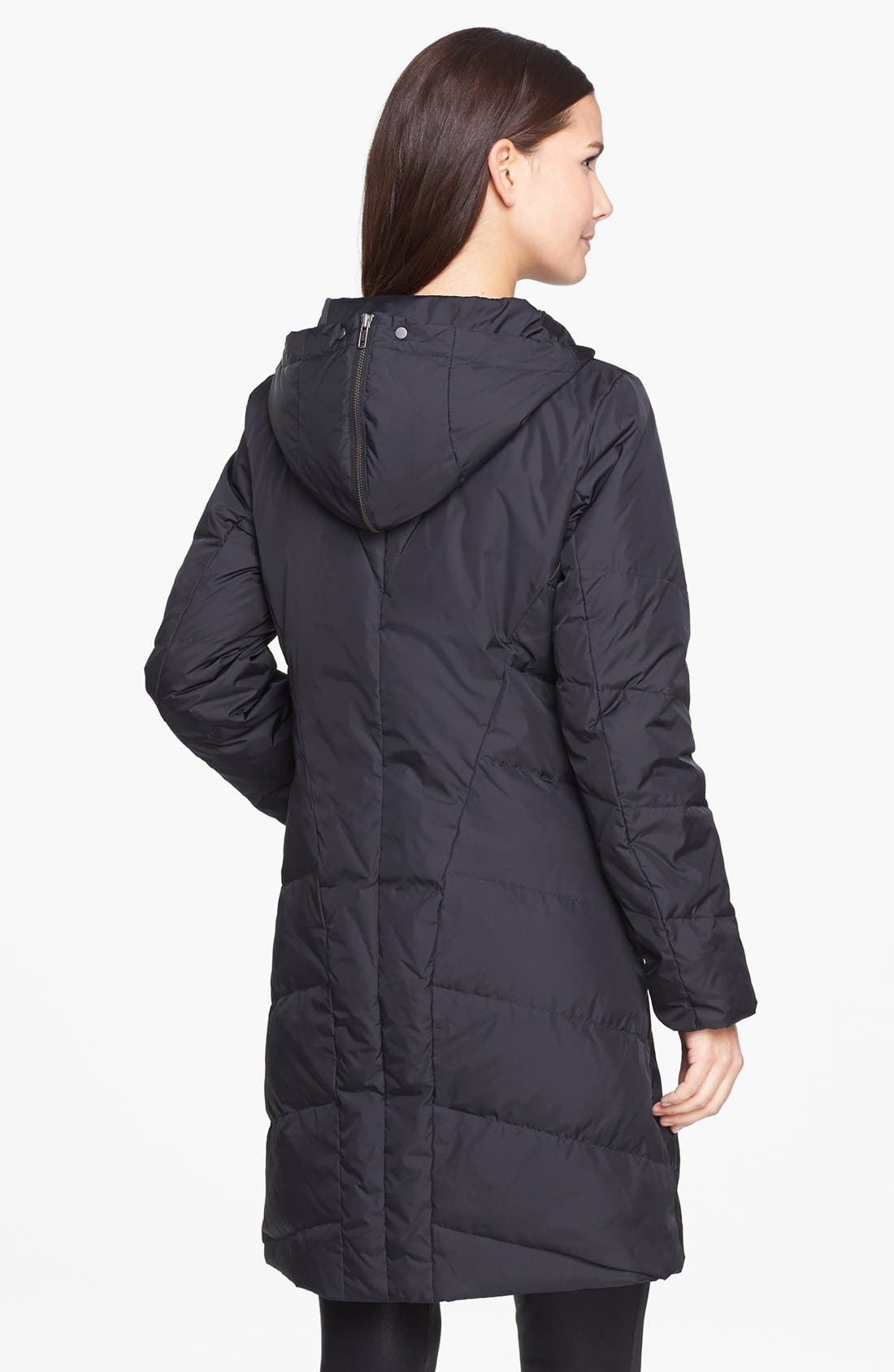 Alternate Image 2  - Eileen Fisher Hooded Quilted Down Coat