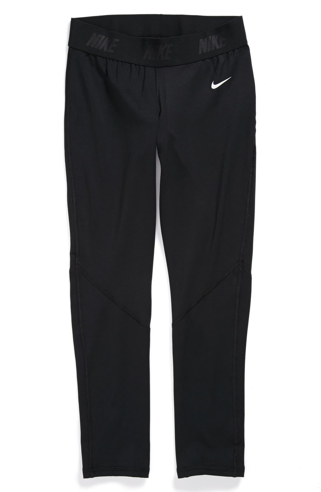 Alternate Image 1 Selected - Nike 'Pro' Leggings (Big Girls)