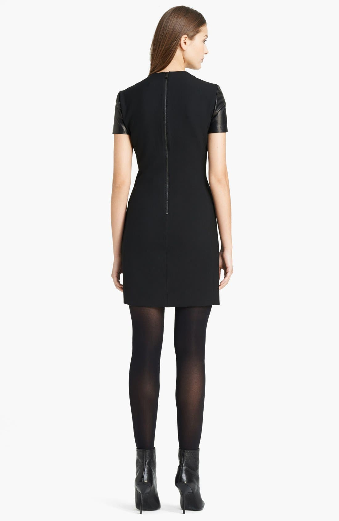 Alternate Image 2  - Burberry London Leather Sleeve Dress
