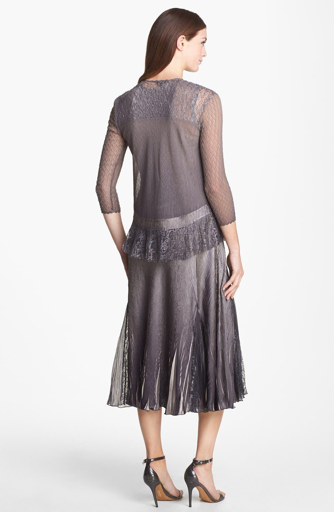 Alternate Image 2  - Komarov Charmeuse Dress & Chiffon Jacket (Regular & Petite)