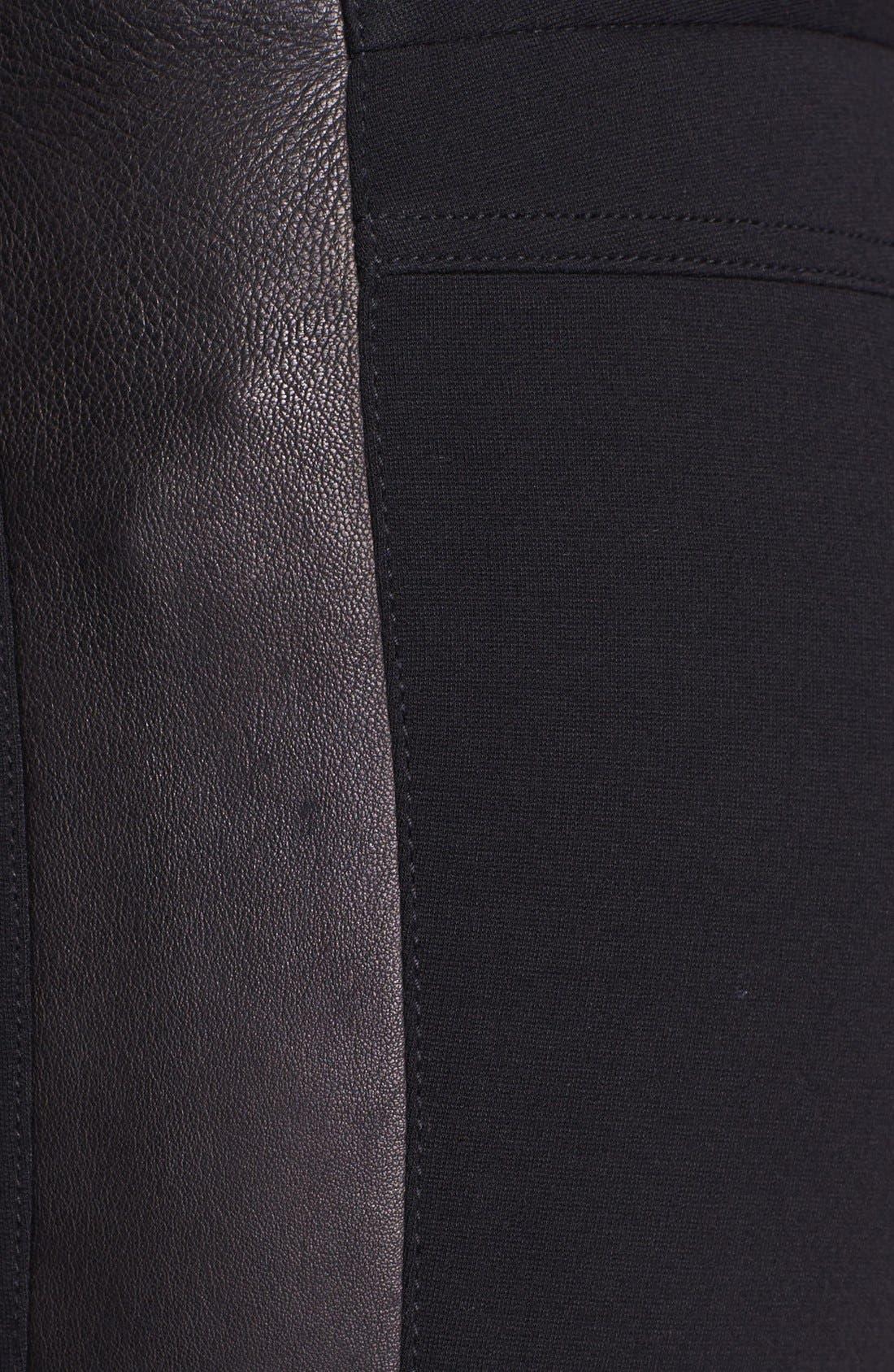 Alternate Image 3  - Diane von Furstenberg 'Leah' Leather & Pont Pants