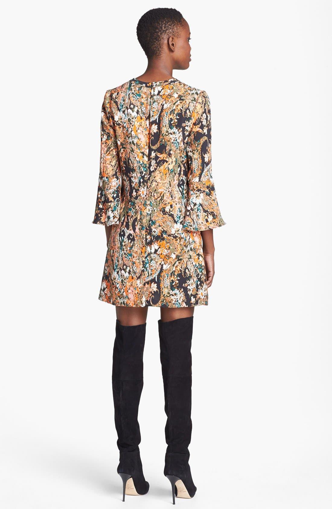 Alternate Image 2  - WAYF Print Flare Sleeve Shift Dress