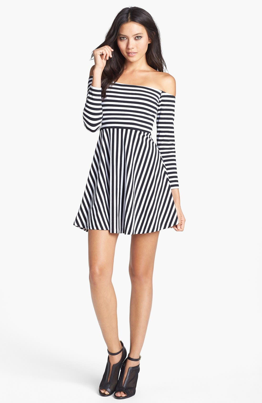 Alternate Image 1 Selected - MINKPINK Stripe Skater Dress