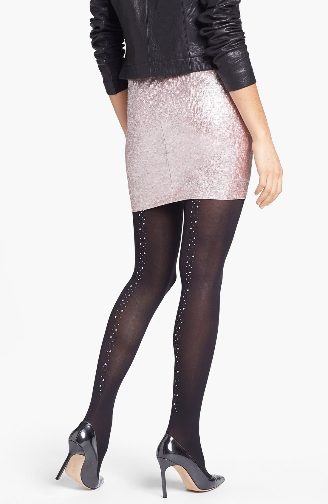 Alternate Image 1 Selected - Pretty Polly Embellished Back Seam Tights