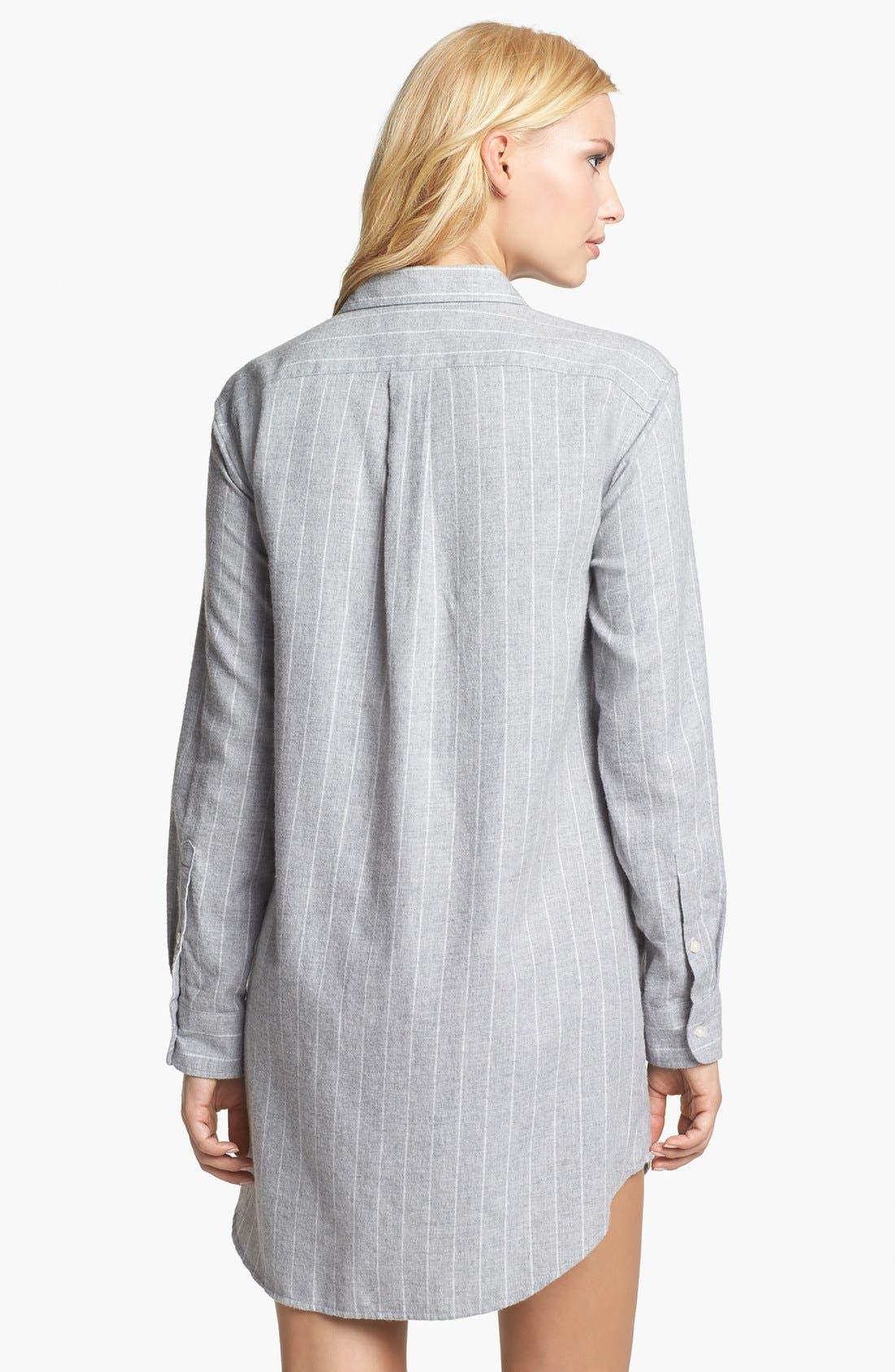 Alternate Image 2  - Lauren Ralph Lauren 'Wicklow' Brushed Twill Sleep Shirt