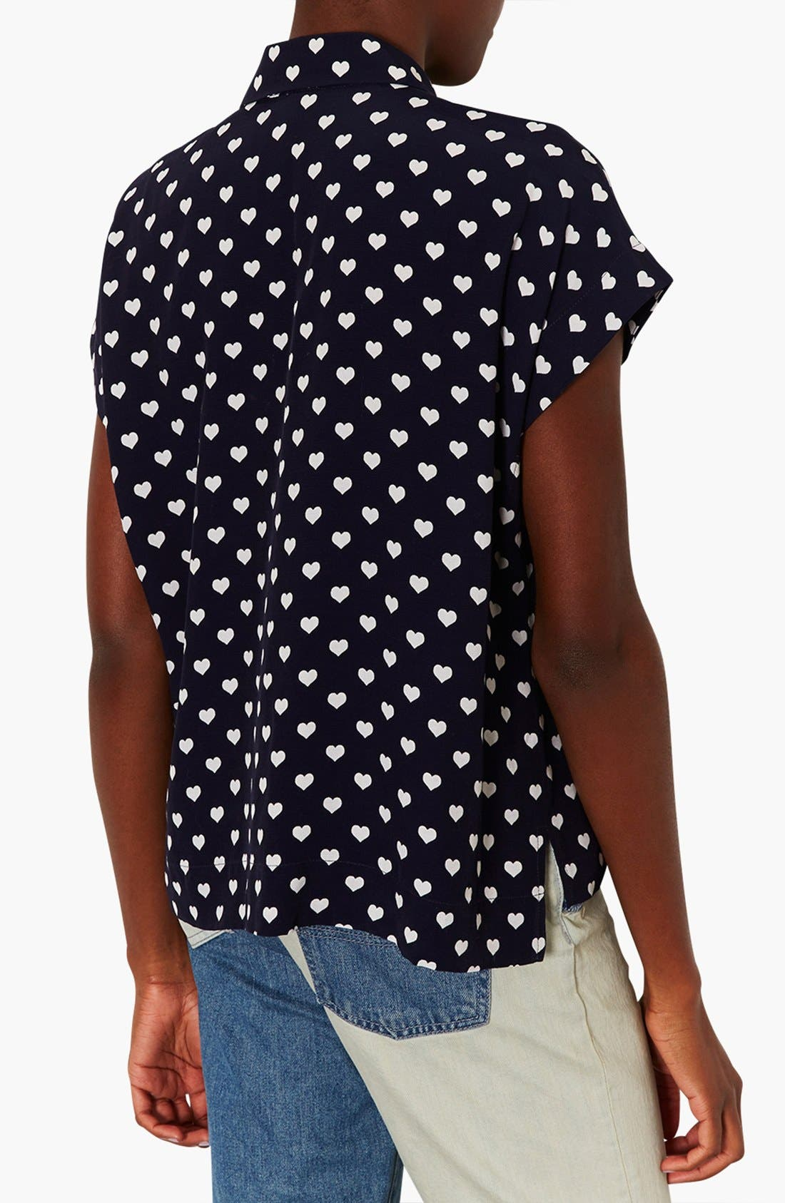 Alternate Image 2  - Topshop Heart Print Shirt