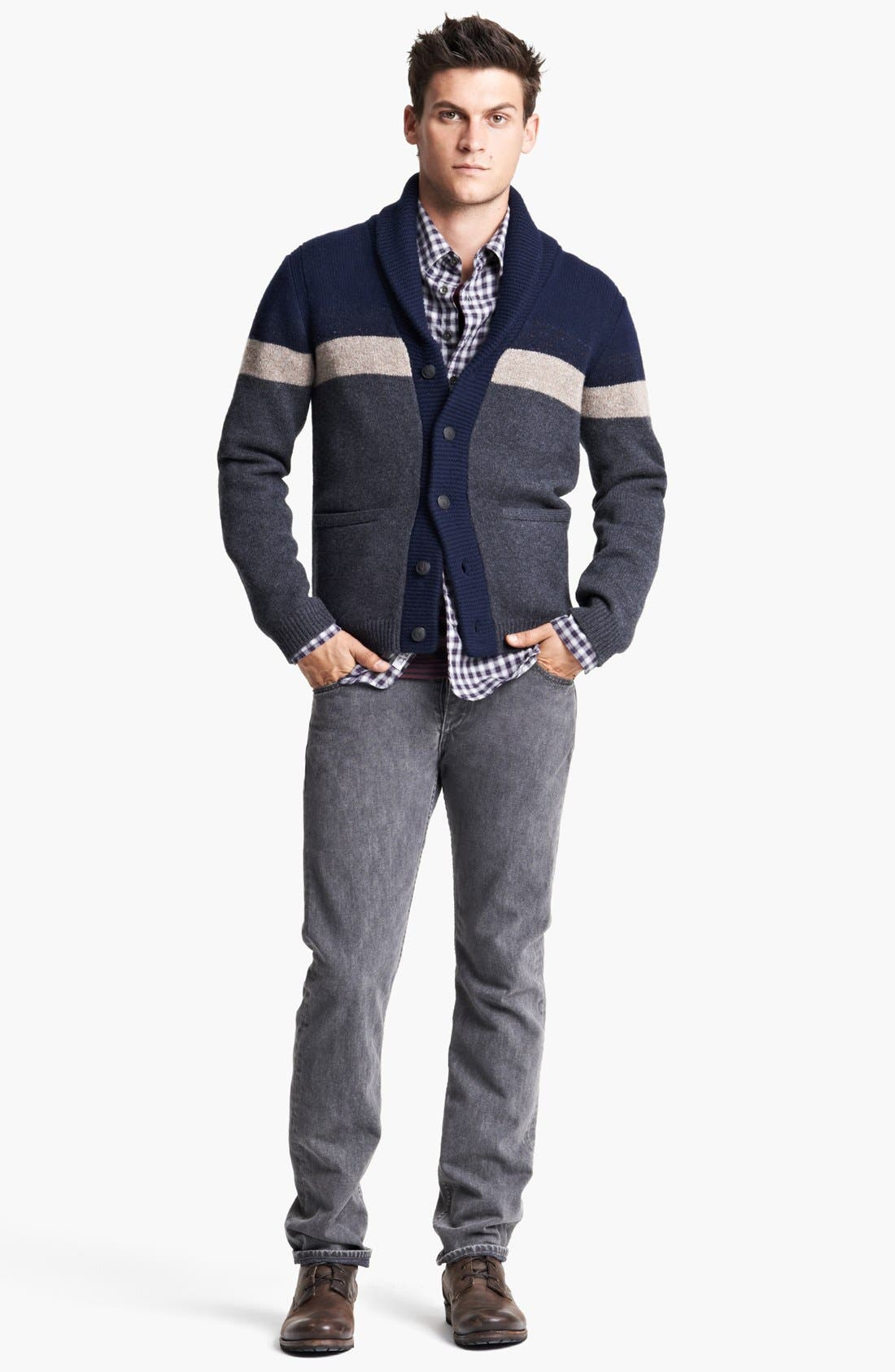 Alternate Image 4  - rag & bone 'Teddy' Shawl Cardigan