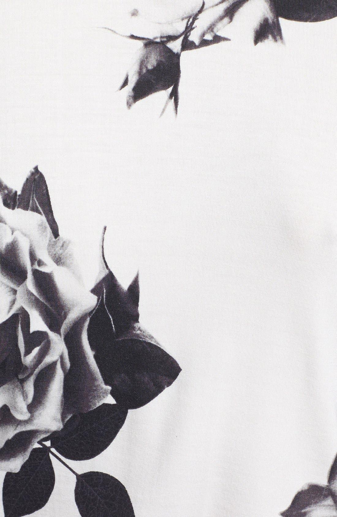 Alternate Image 3  - PJ Luxe 'Rose Noir' Short Robe
