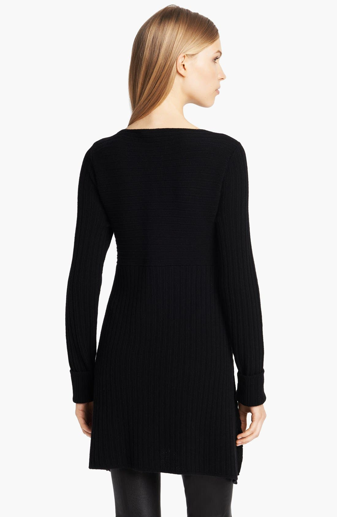 Alternate Image 2  - Donna Karan Casual Luxe Ribbed Wool & Cashmere Tunic