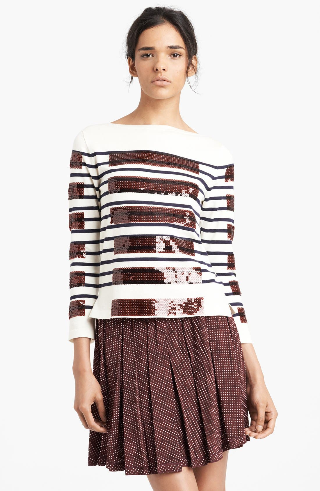 Alternate Image 1 Selected - MARC JACOBS Sequin Breton Stripe Sweater