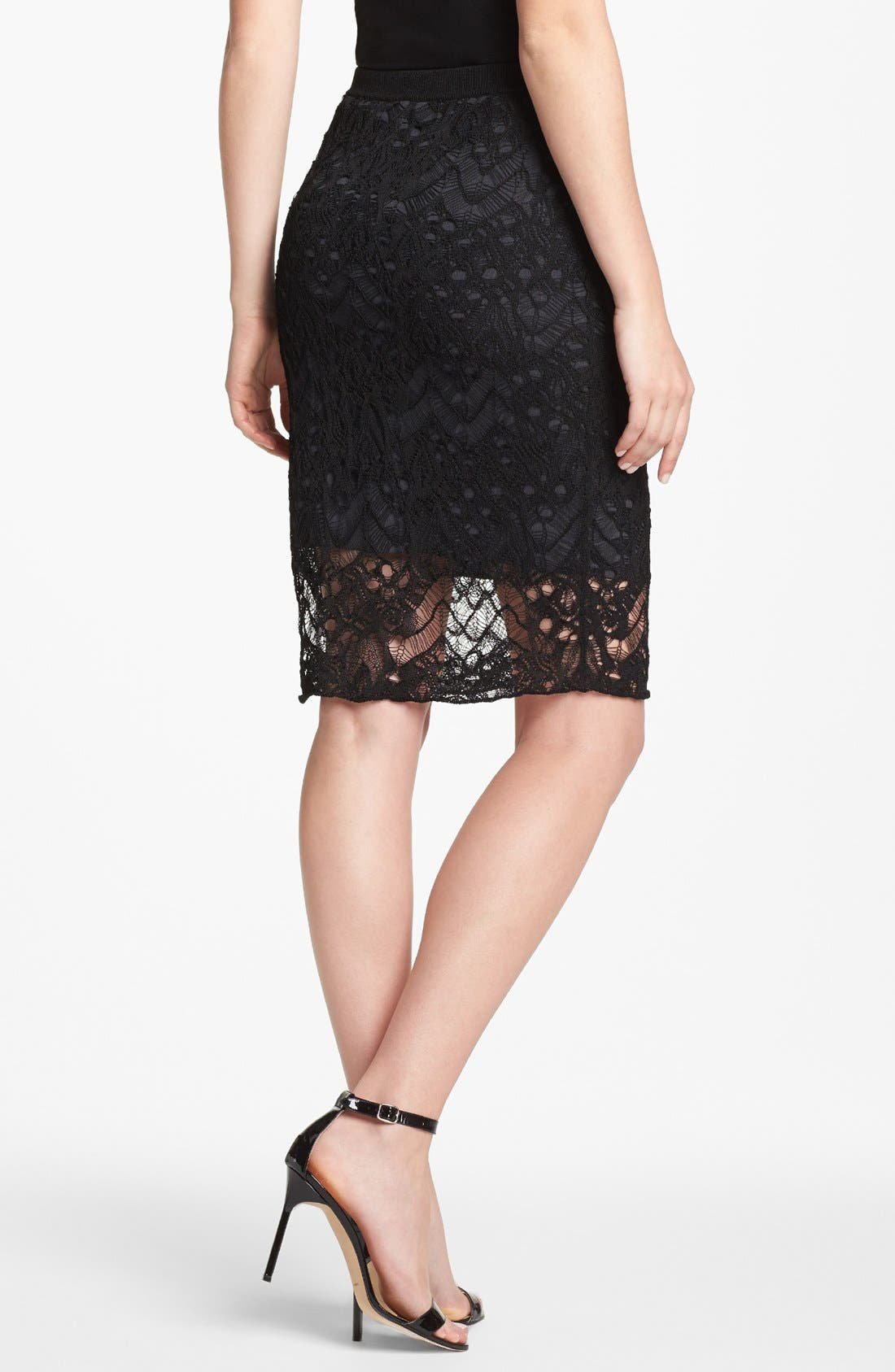 Alternate Image 2  - Eileen Fisher Lace Skirt (Petite)