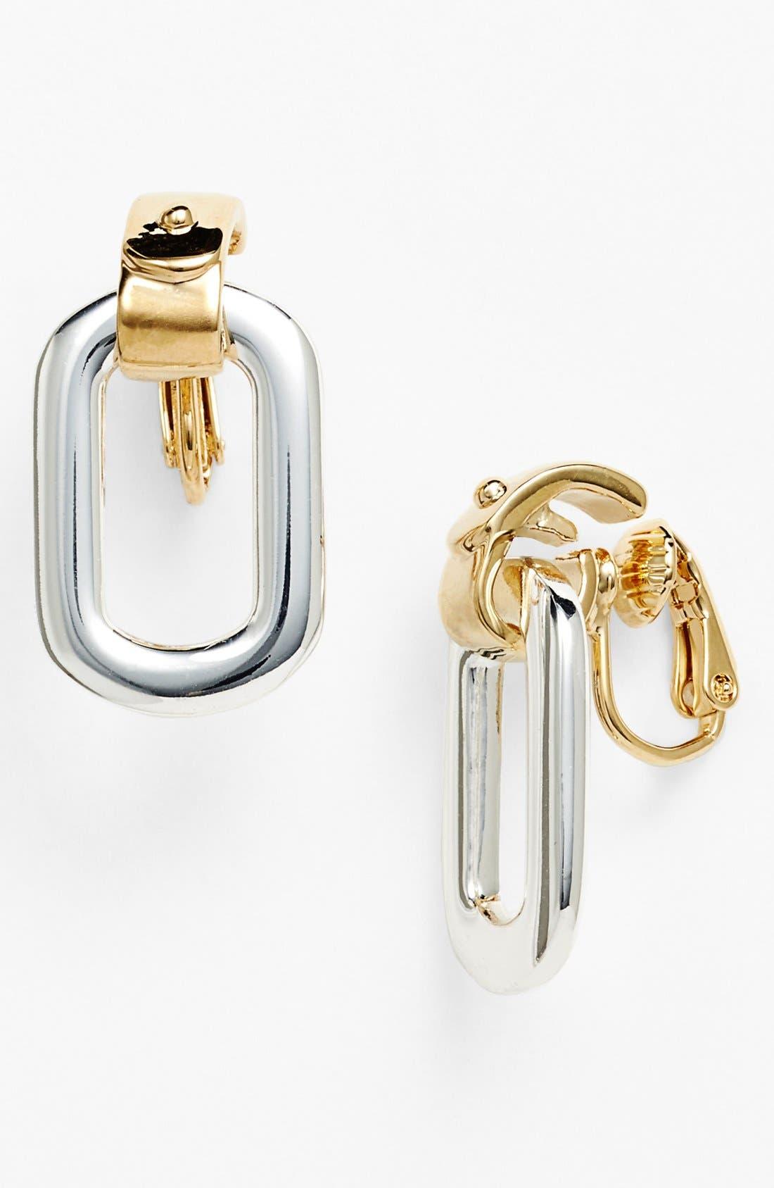 Main Image - Lauren Ralph Lauren Two Tone Link Clip Earrings