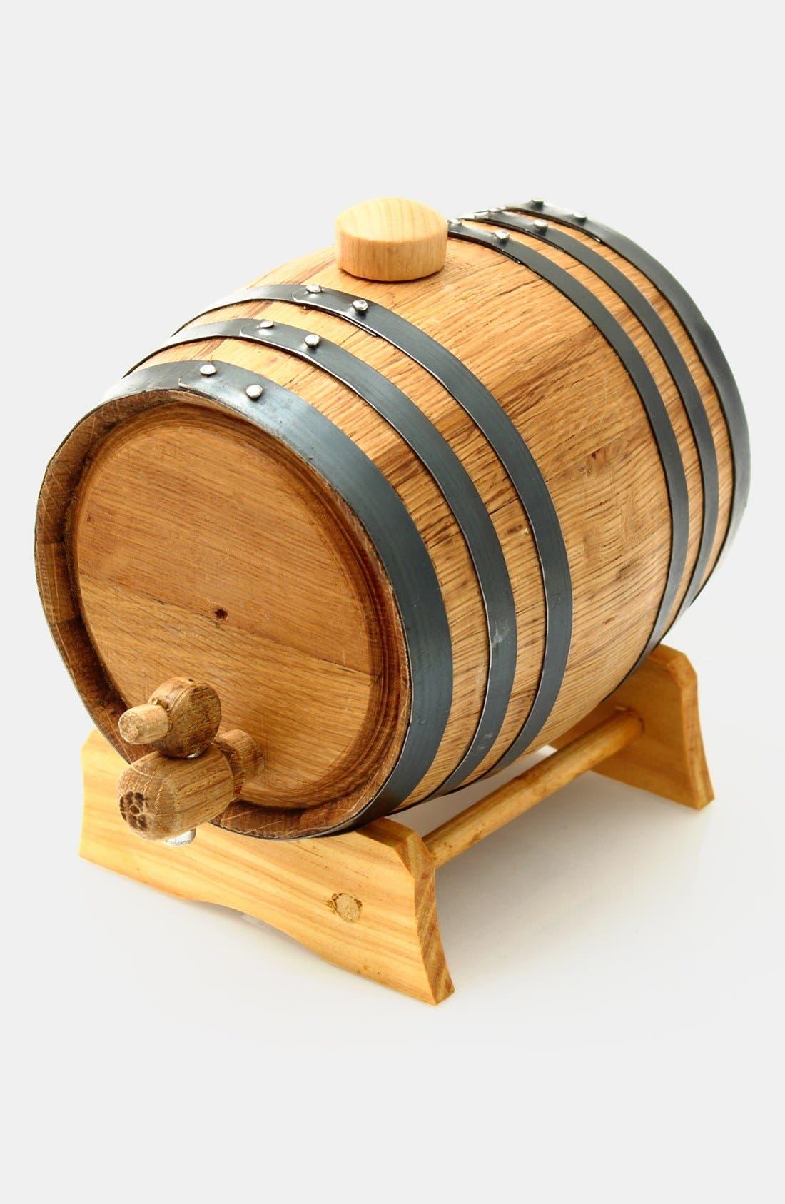 Cathy's Concepts Monogram Oak Whiskey Barrel, Large