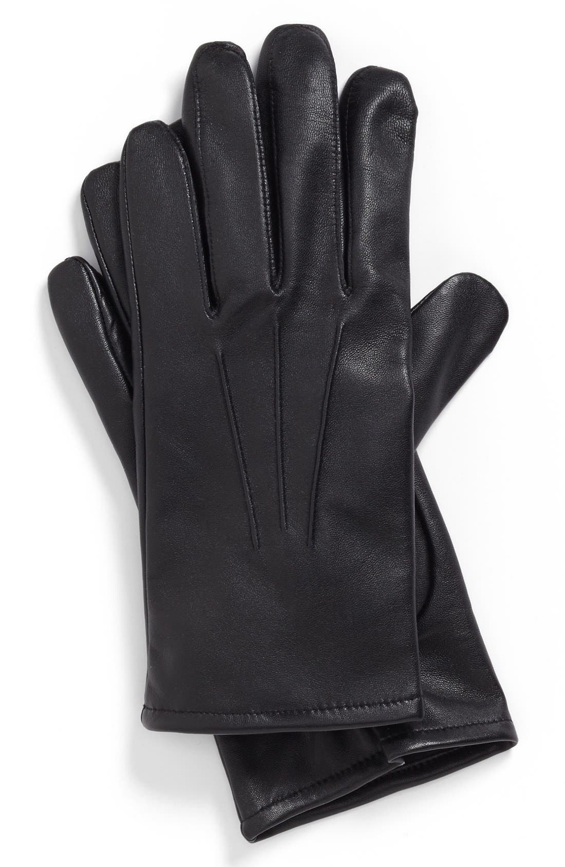 Alternate Image 1 Selected - John W. Nordstrom® Nappa Leather Gloves