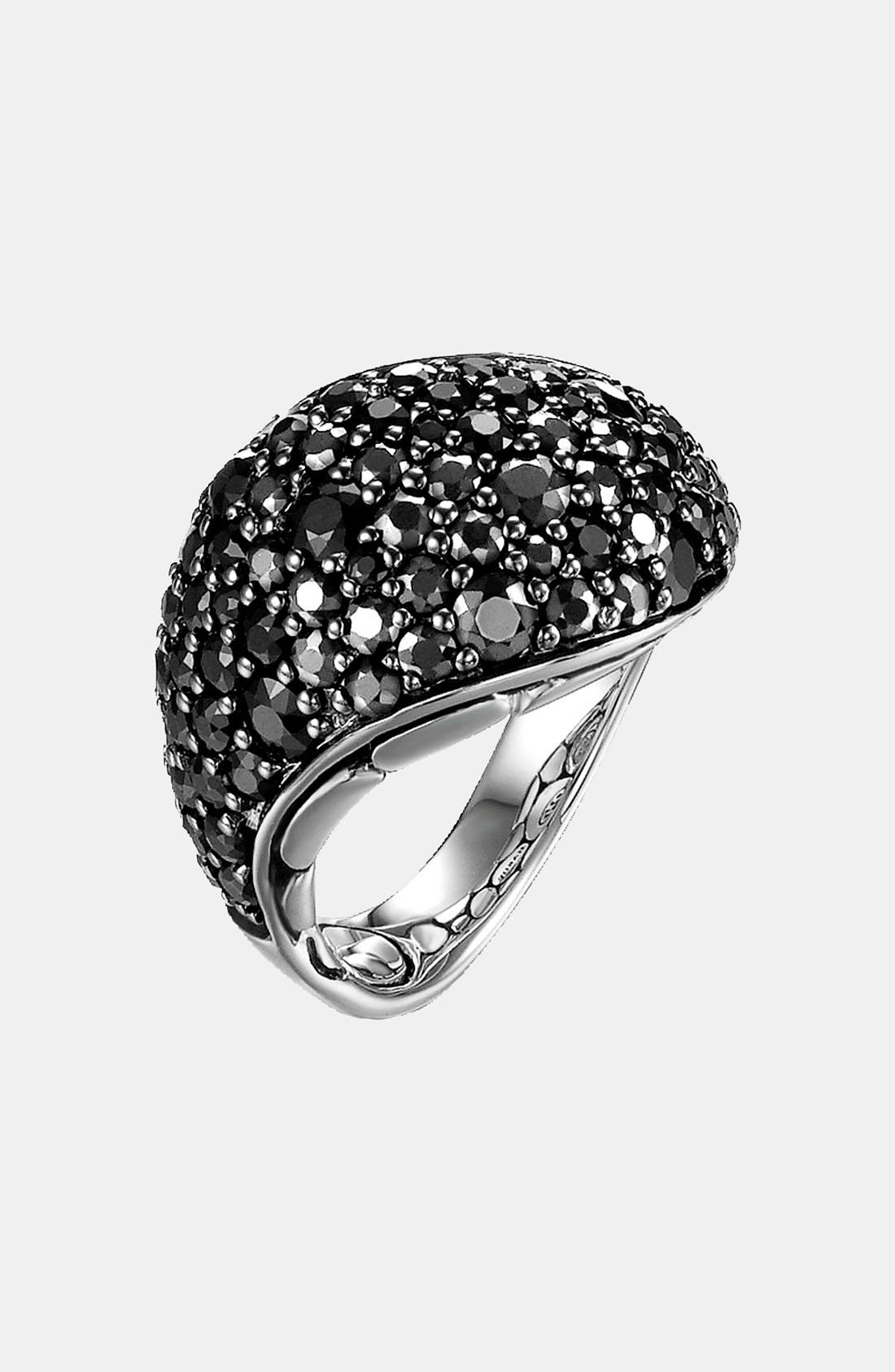 Alternate Image 1 Selected - John Hardy 'Kali Silver Lava' Black Sapphire Cocktail Ring