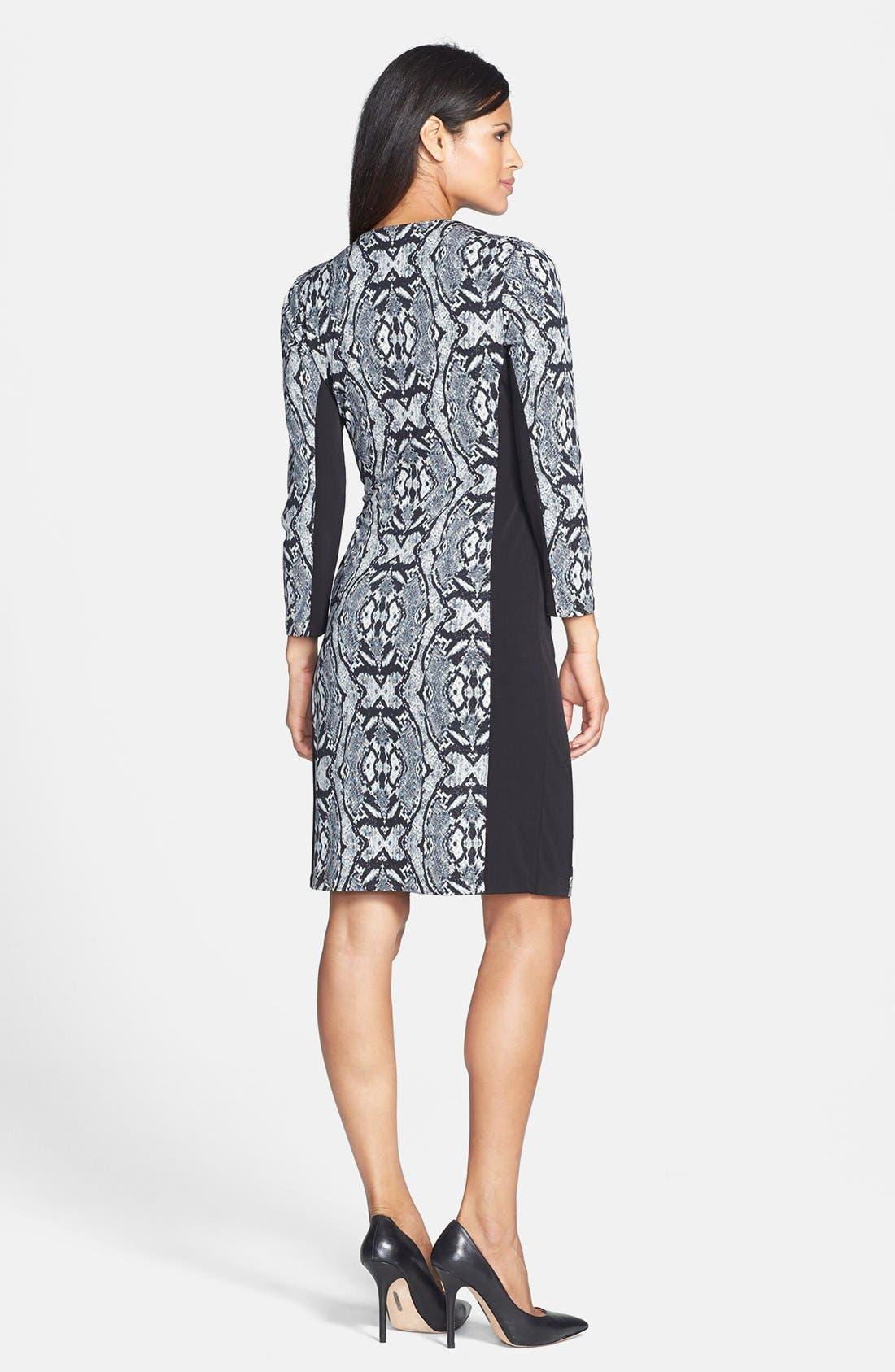Alternate Image 2  - Anne Klein Geo Python Print Dress