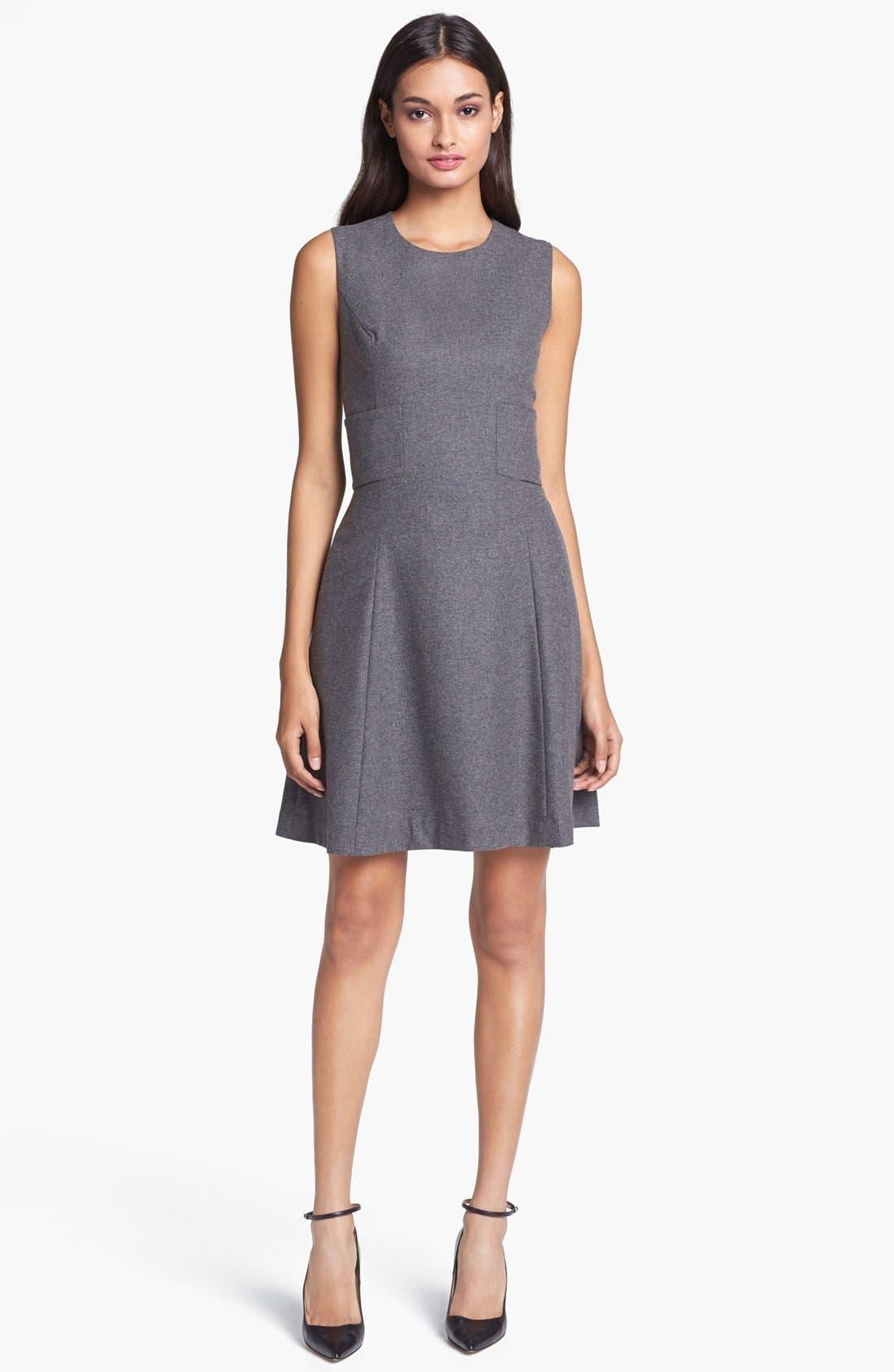 Main Image - kate spade new york 'marti' wool blend a-line dress