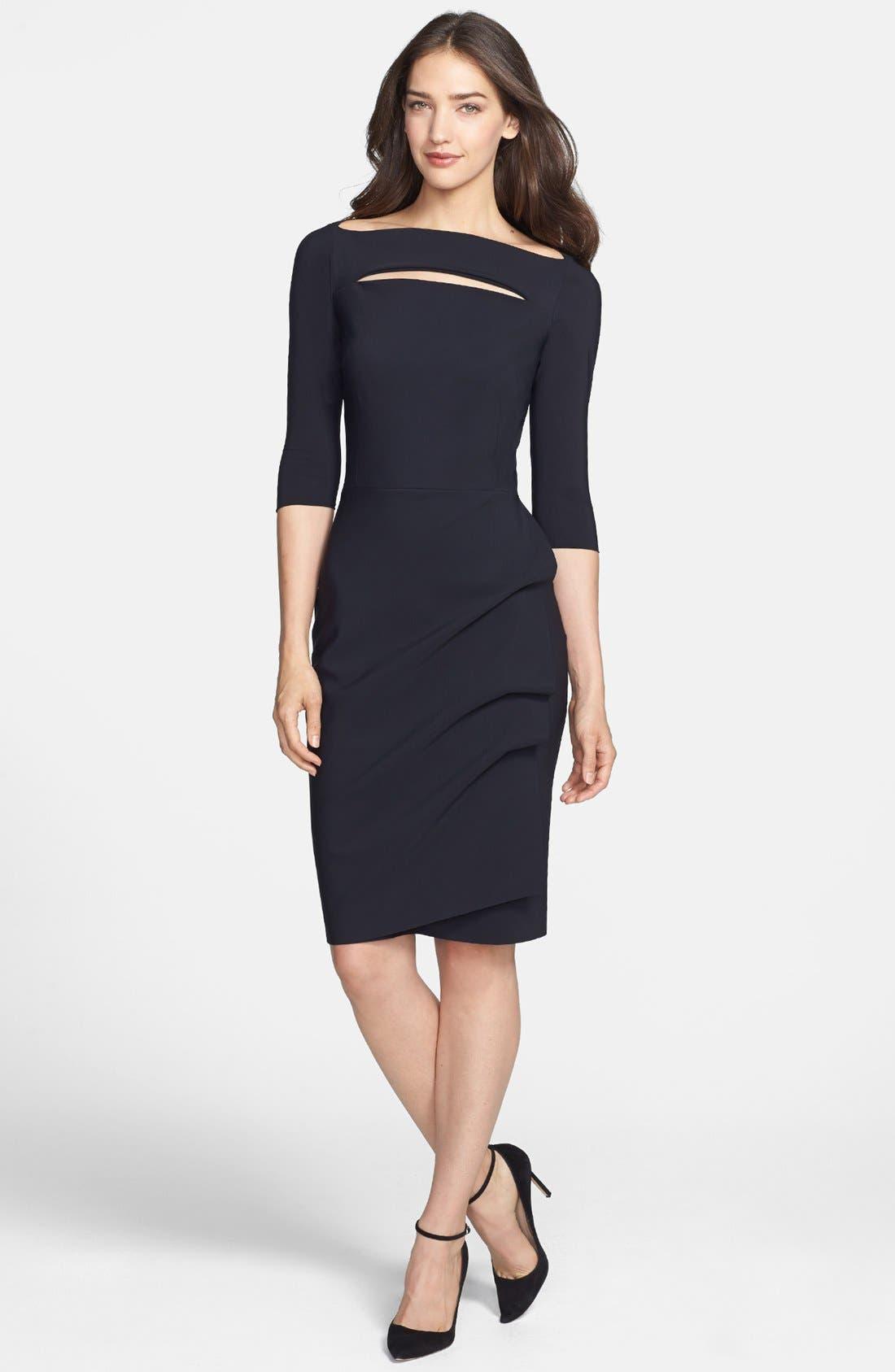 Alternate Image 1 Selected - La Petite Robe by Chiara Boni Cutout Jersey Sheath Dress