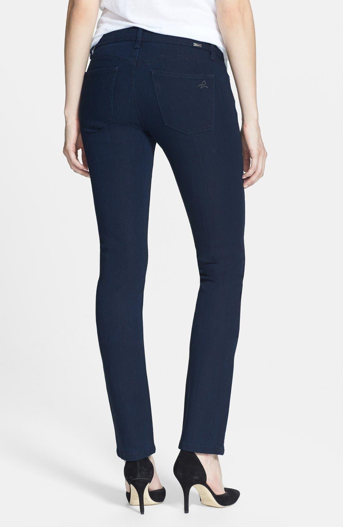 Alternate Image 2  - DL1961 'Coco' Curvy Straight Jeans (Flatiron)