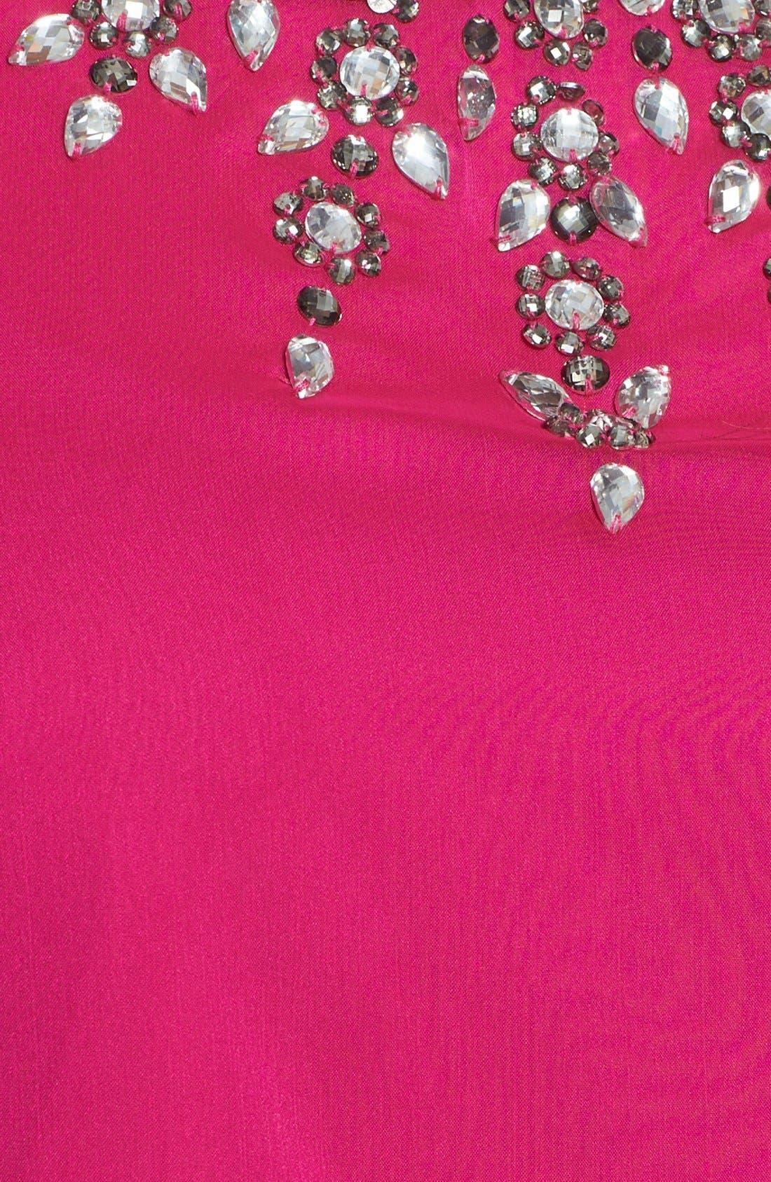 Alternate Image 3  - Adrianna Papell Jeweled Chiffon Blouse (Plus Size)
