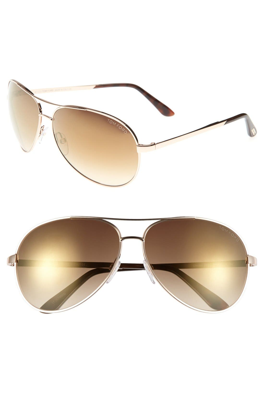 Alternate Image 1 Selected - Tom Ford 'Charles' 62mm Sunglasses