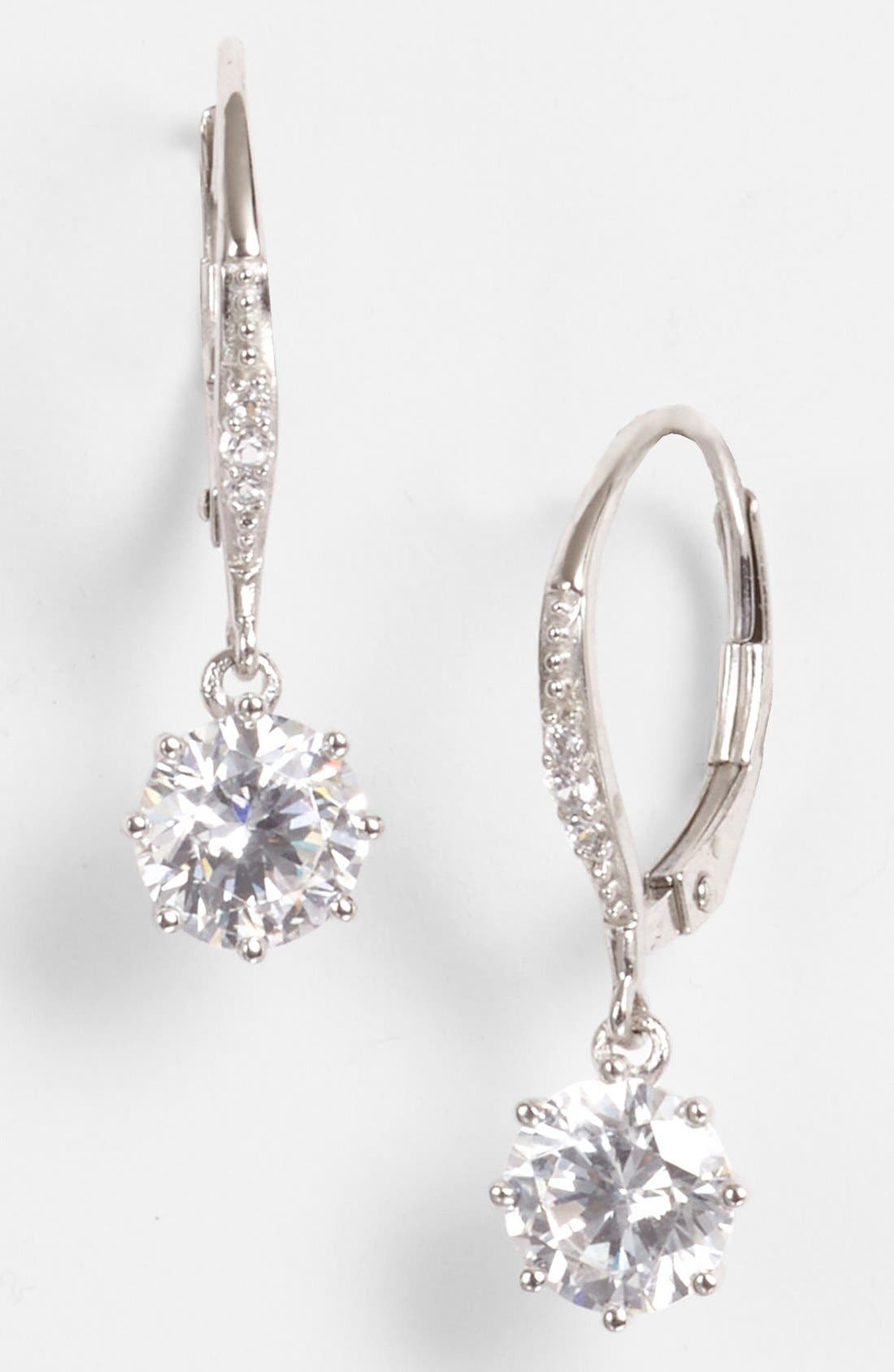 Alternate Image 1 Selected - Nordstrom Cubic Zirconia Drop Earrings (Special Purchase)
