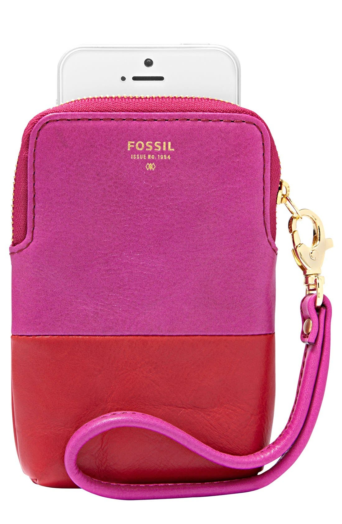 Main Image - Fossil Leather Phone Wristlet