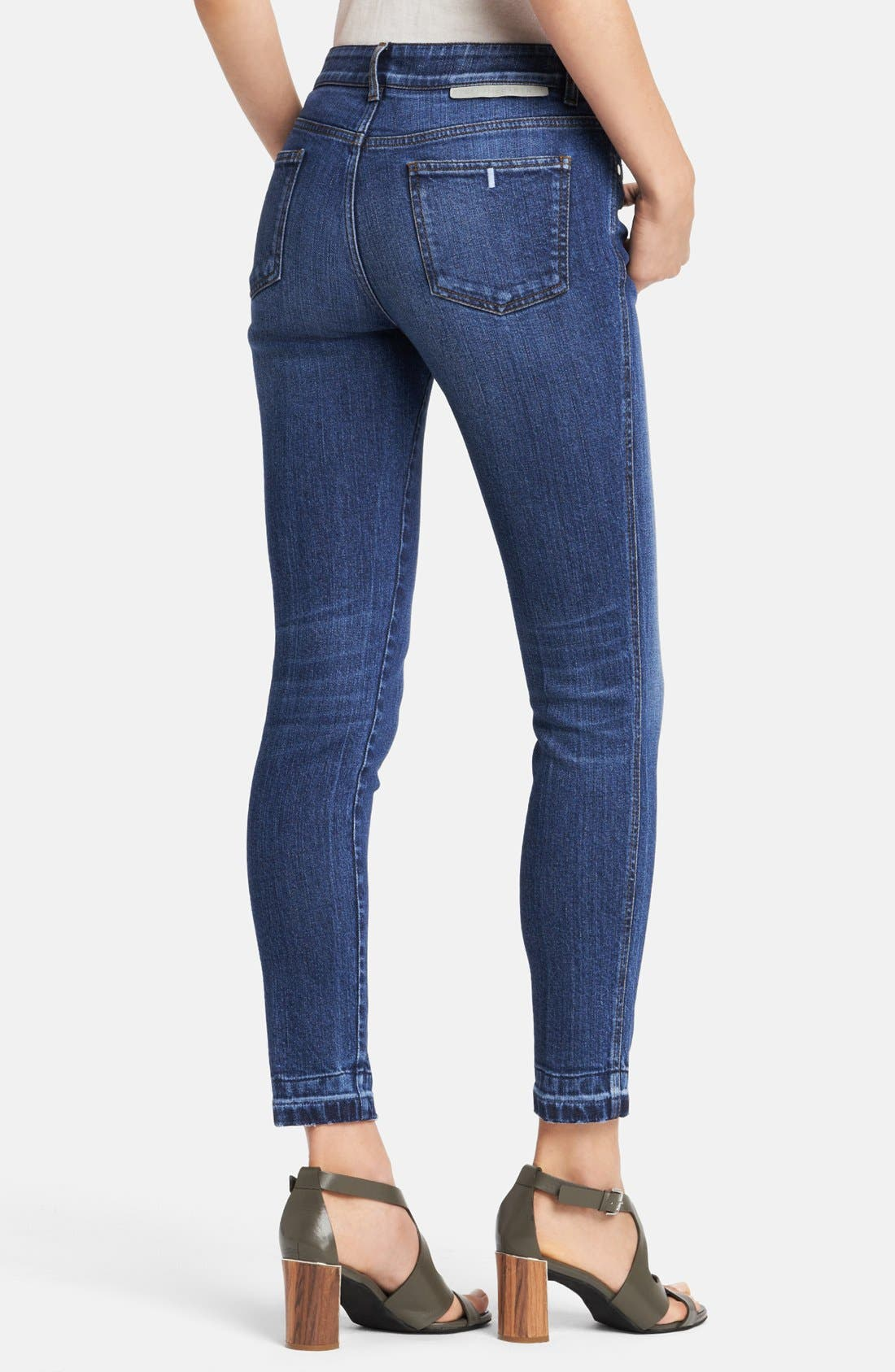 Alternate Image 2  - Stella McCartney 'Simone' Ripped Hem Skinny Ankle Grazer Jeans