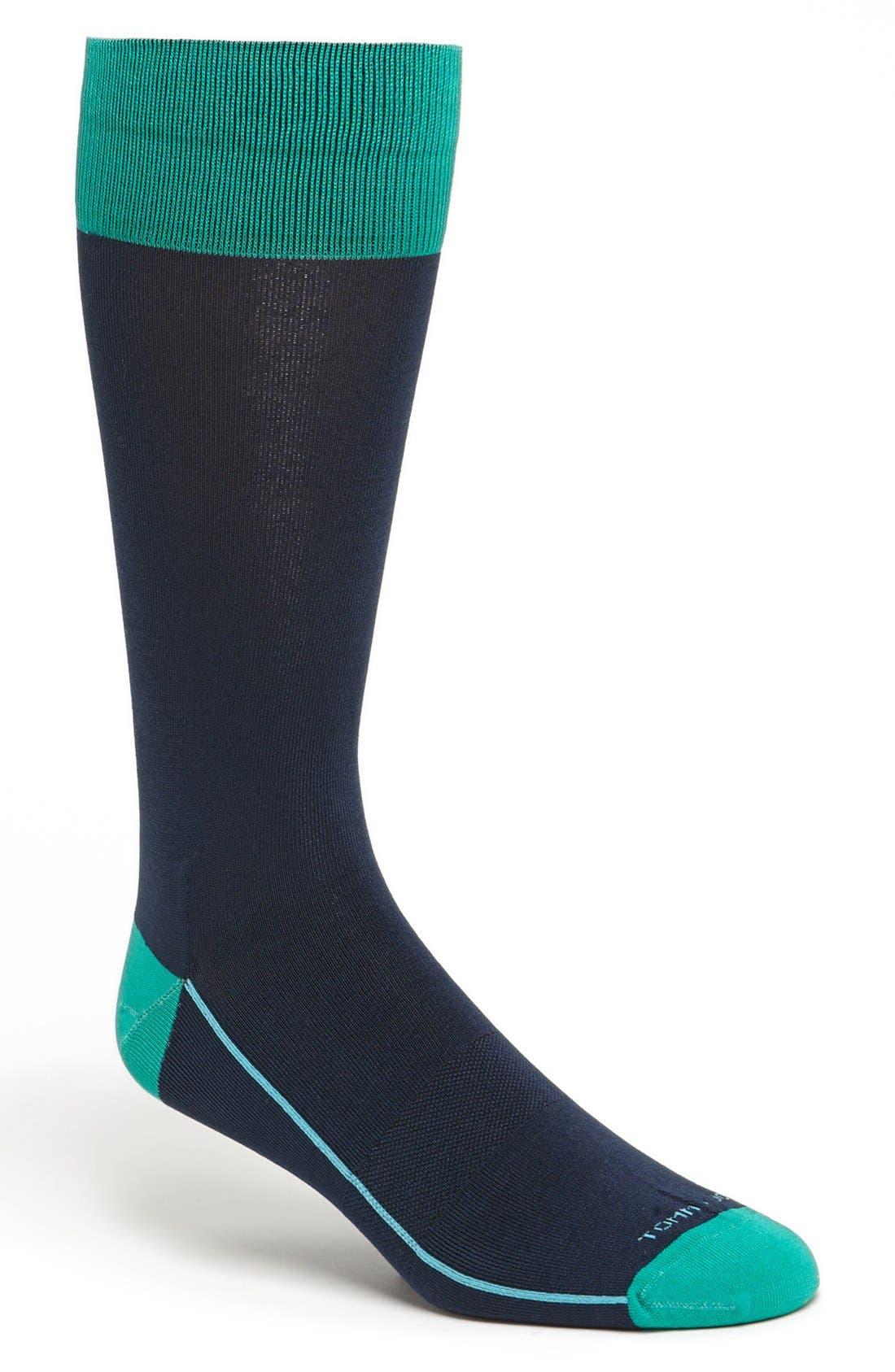 Main Image - Tommy John Solid Cotton Blend Socks