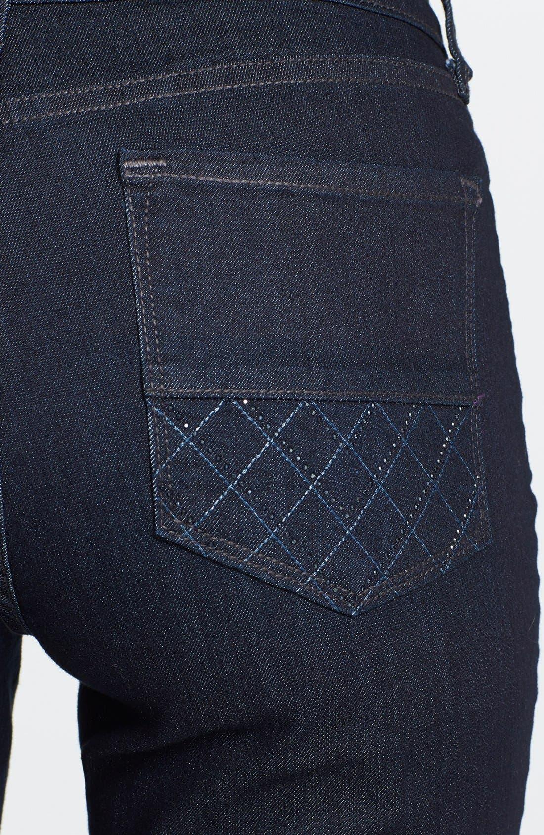 Alternate Image 3  - NYDJ 'Marilyn' Straight Leg Jeans (Dark Enzyme) (Petite)
