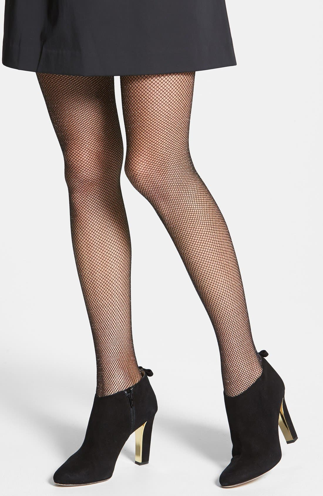 Main Image - kate spade new york 'sparkle' fishnet stockings