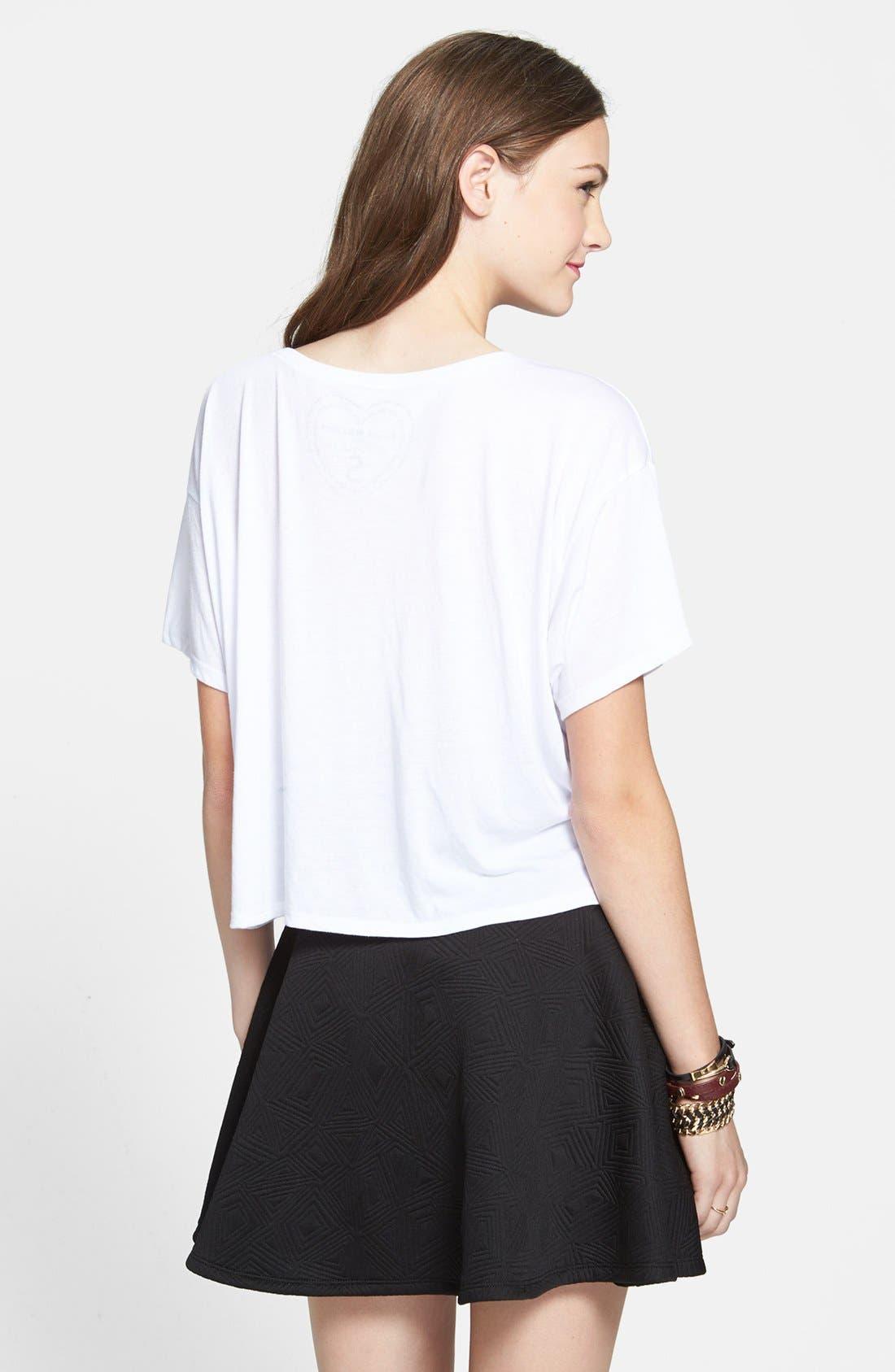 Alternate Image 2  - Lily White Textured Skater Skirt (Juniors) (Online Only)