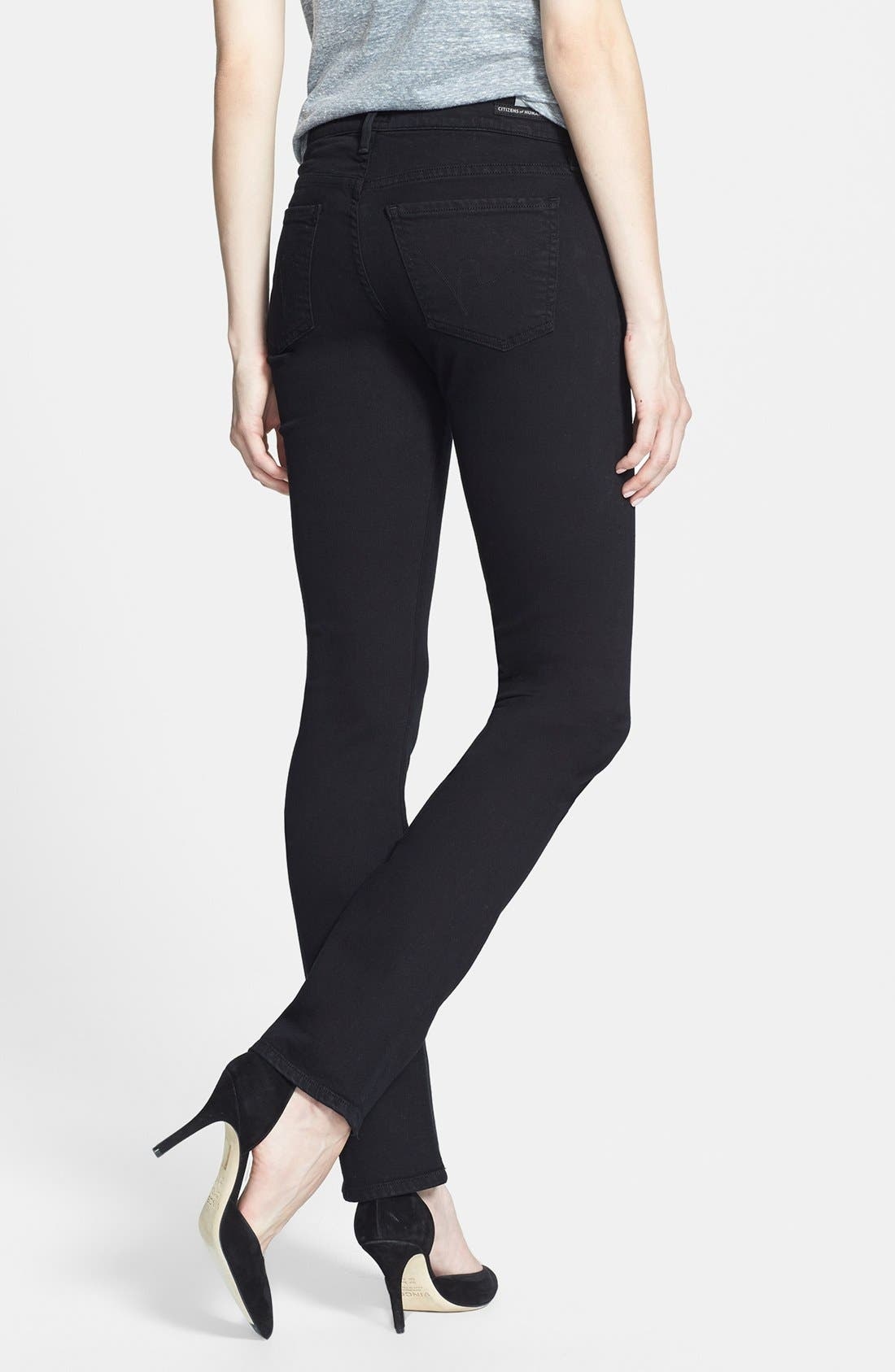 Alternate Image 2  - Citizens of Humanity 'Ava' Straight Leg Jeans (Tuxedo)