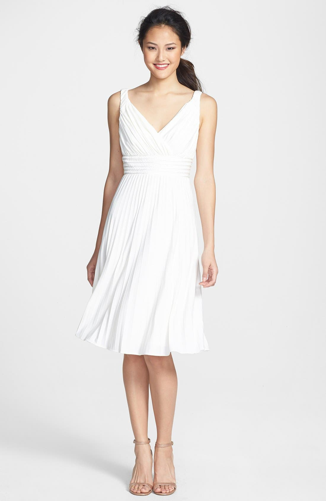 Main Image - Ivy & Blu Pleated Jersey Dress