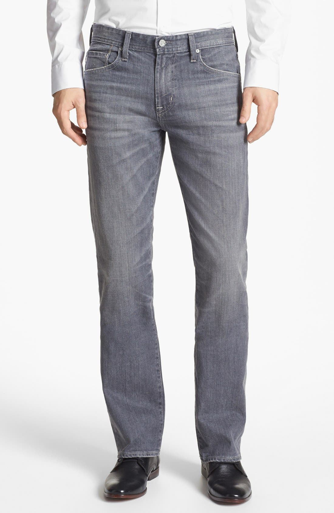 Alternate Image 1 Selected - AG 'Protégé' Straight Leg Jeans (9 Years Grey)