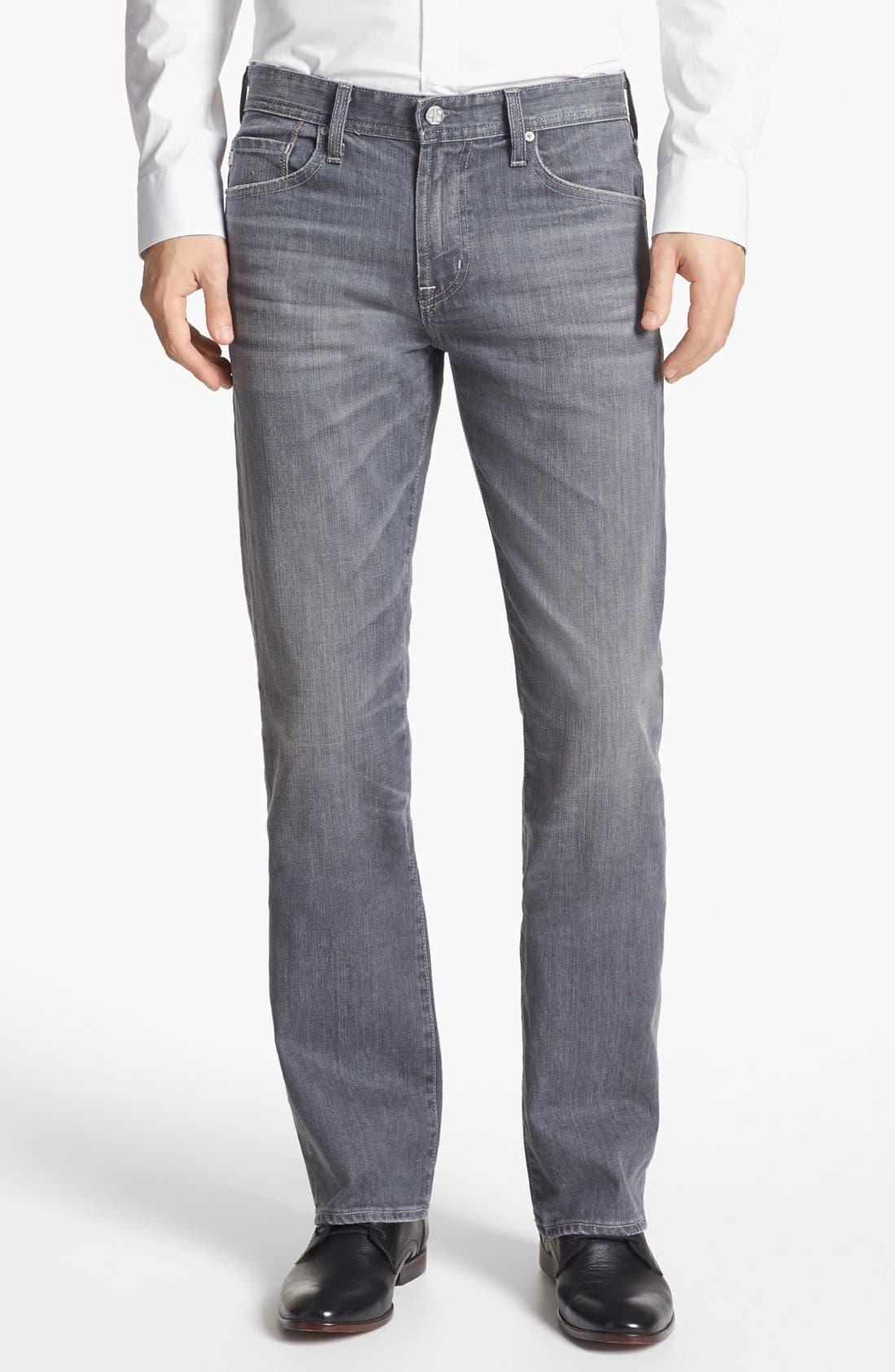 Main Image - AG 'Protégé' Straight Leg Jeans (9 Years Grey)