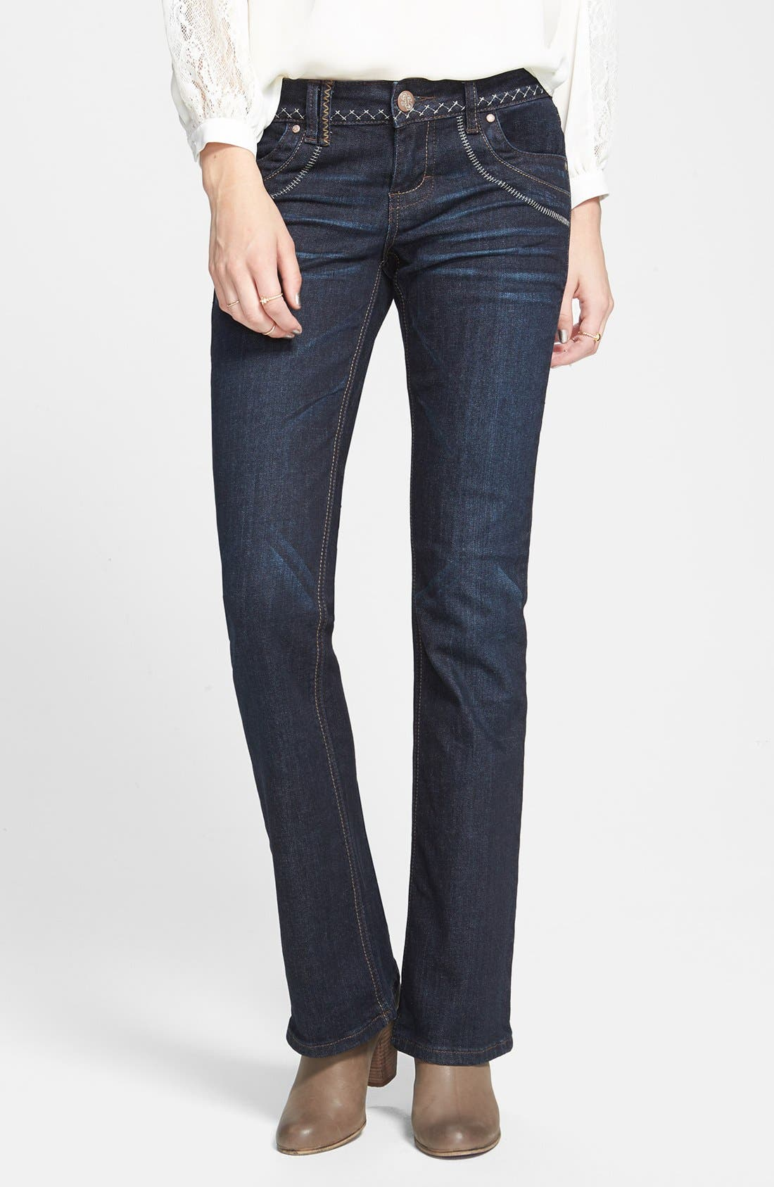 Alternate Image 1 Selected - STS Blue 'Coranada' Embroidered Bootcut Jeans (Medium) (Juniors) (Online Only)