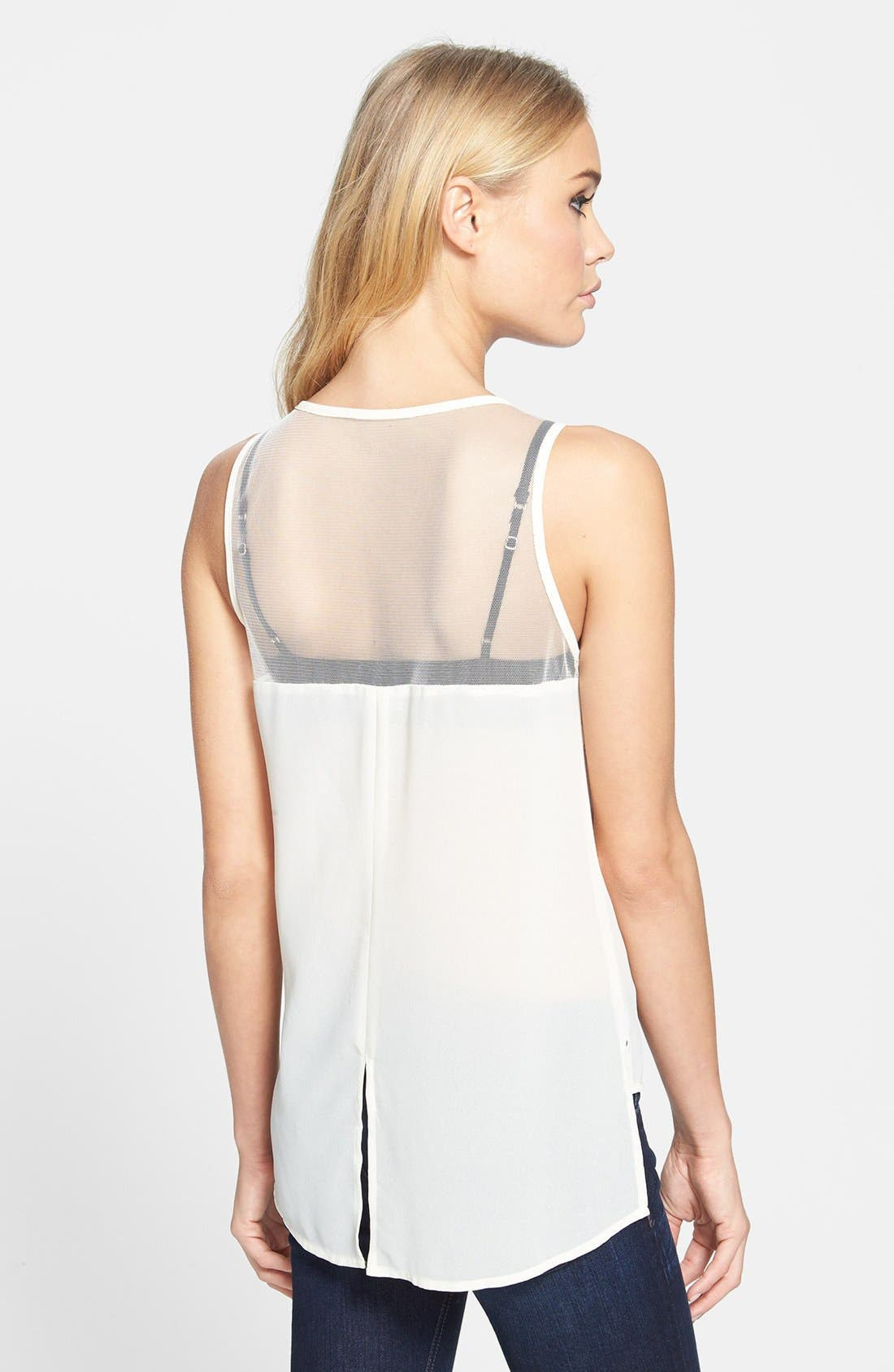 Alternate Image 2  - ASTR Beaded Front High/Low Tank