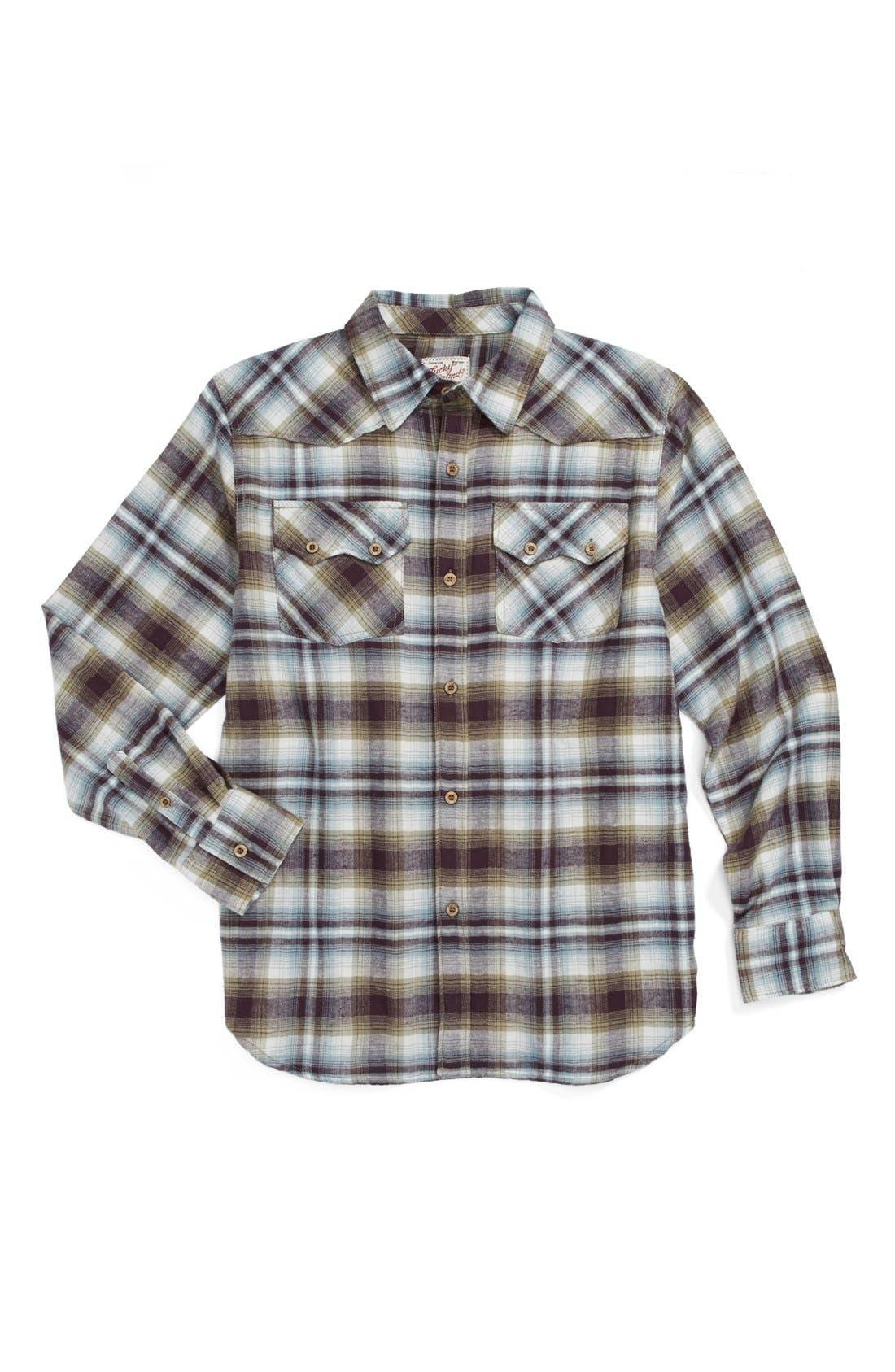 Alternate Image 1 Selected - Lucky Brand 'Speedster' Plaid Shirt (Big Boys)